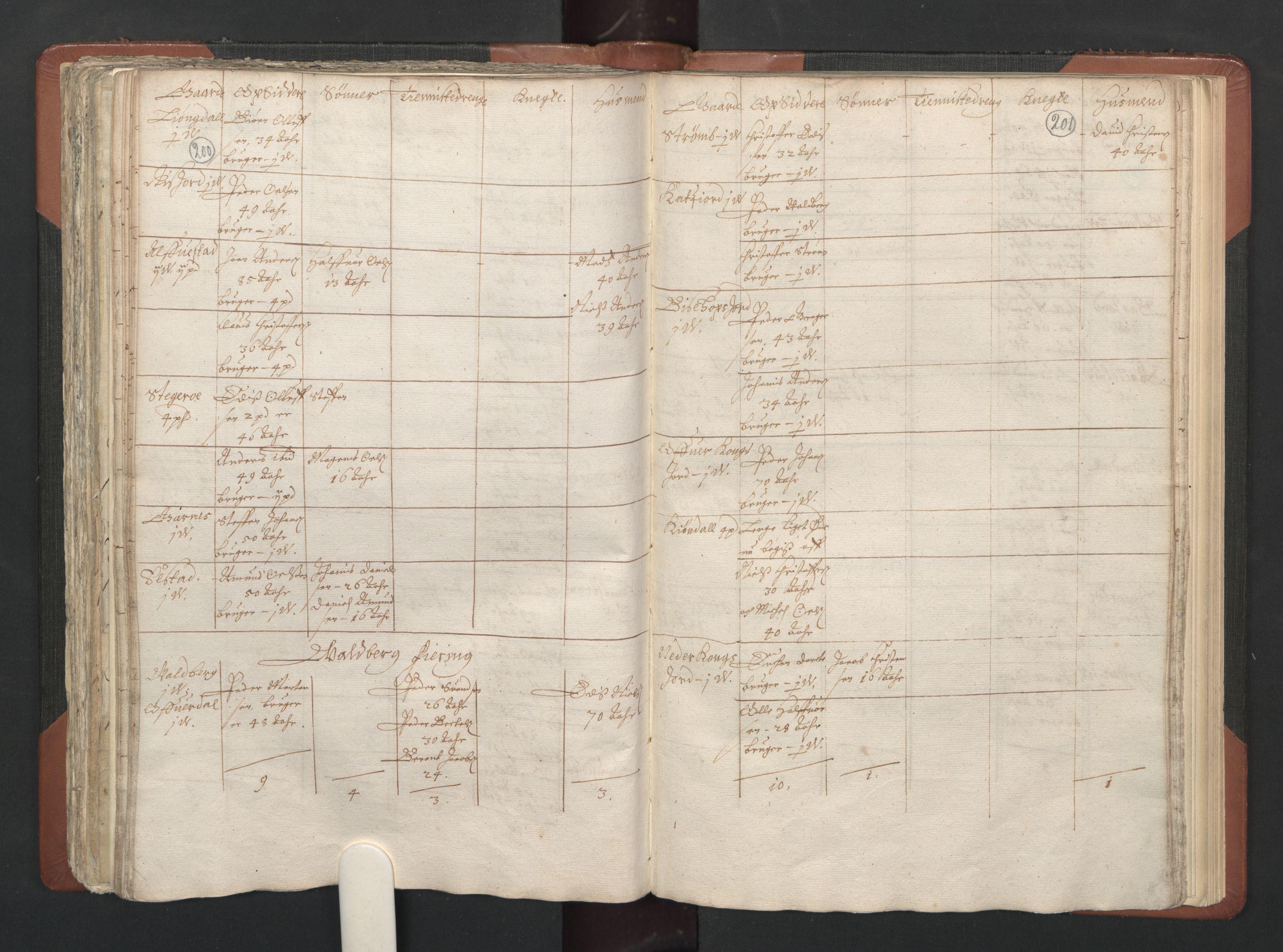 RA, Fogdenes og sorenskrivernes manntall 1664-1666, nr. 20: Fogderier (len og skipreider) i nåværende Nordland fylke, Troms fylke og Finnmark fylke, 1665, s. 200-201