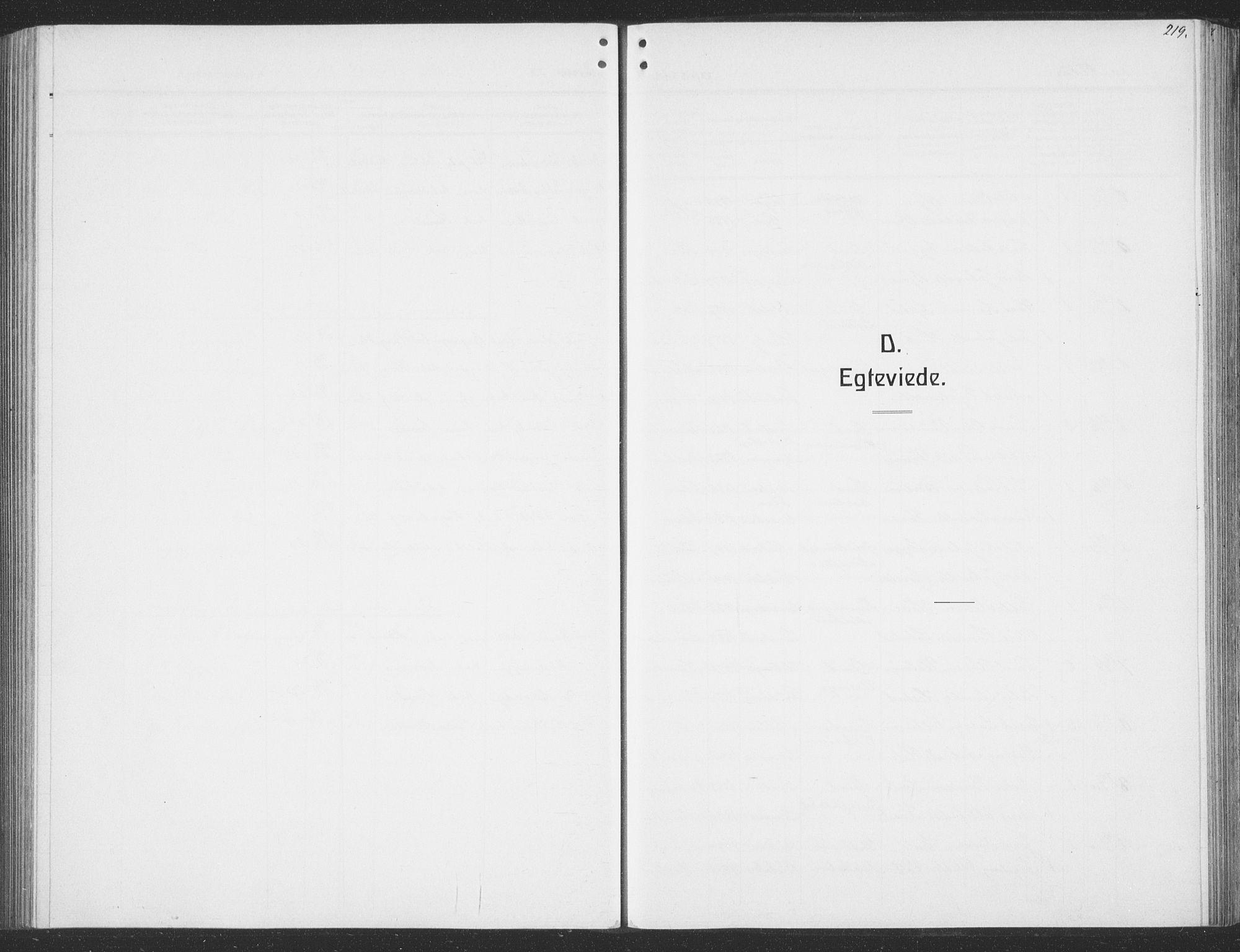 SAT, Ministerialprotokoller, klokkerbøker og fødselsregistre - Sør-Trøndelag, 691/L1095: Klokkerbok nr. 691C06, 1912-1933, s. 219