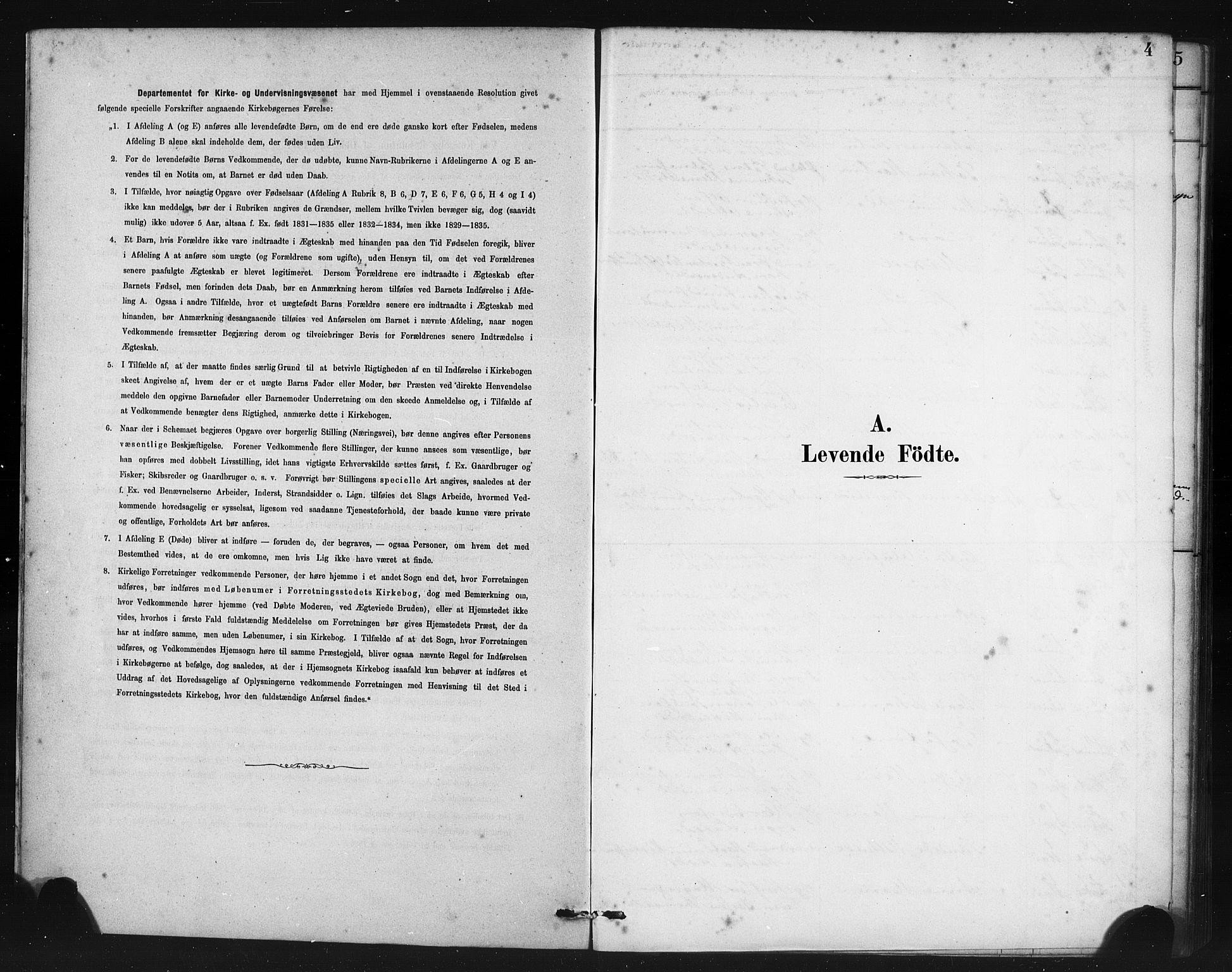 SAB, Manger sokneprestembete, H/Haa: Ministerialbok nr. B 1, 1881-1892, s. 4