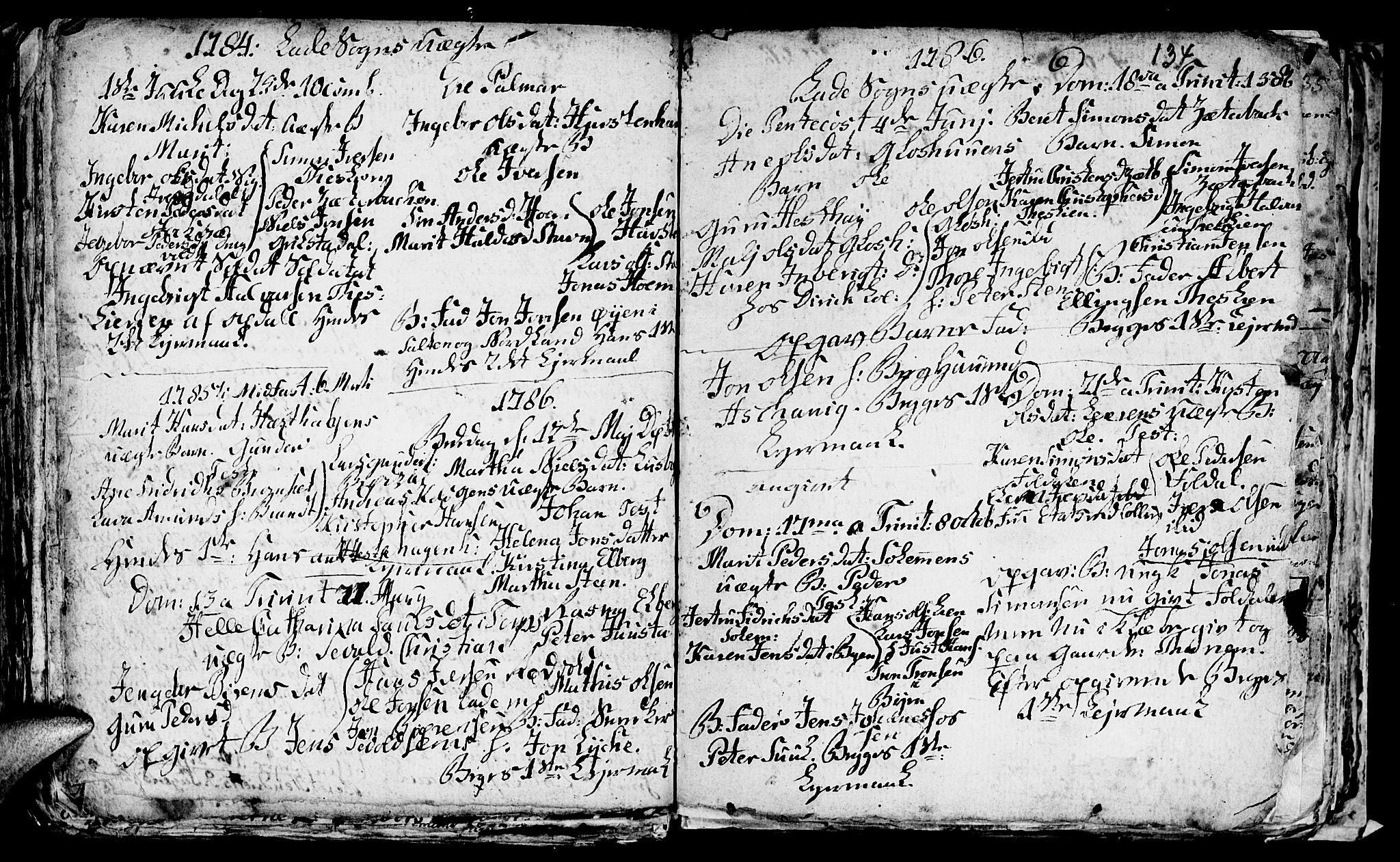 SAT, Ministerialprotokoller, klokkerbøker og fødselsregistre - Sør-Trøndelag, 606/L0305: Klokkerbok nr. 606C01, 1757-1819, s. 134