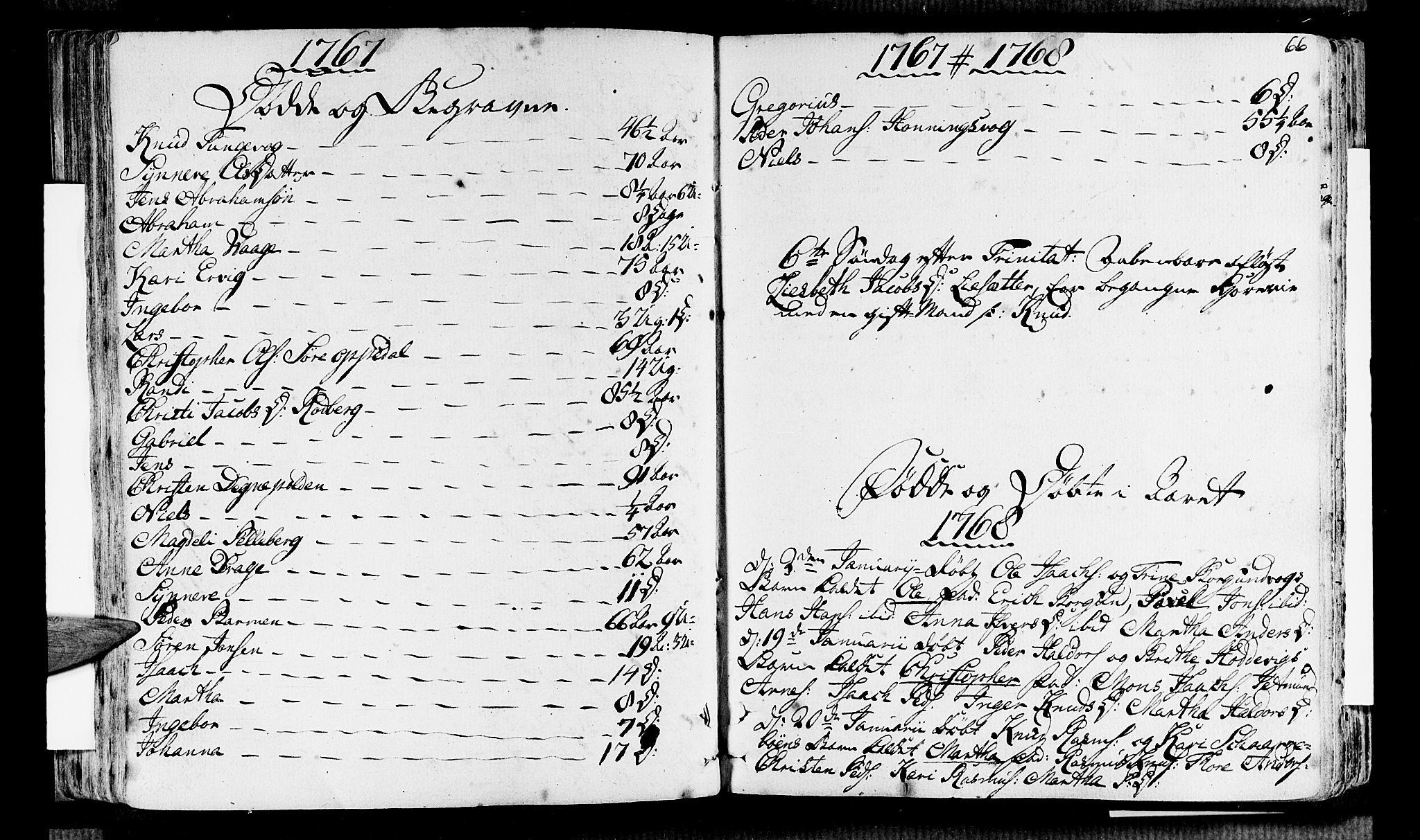SAB, Selje sokneprestembete*, Ministerialbok nr. A 5, 1760-1782, s. 66