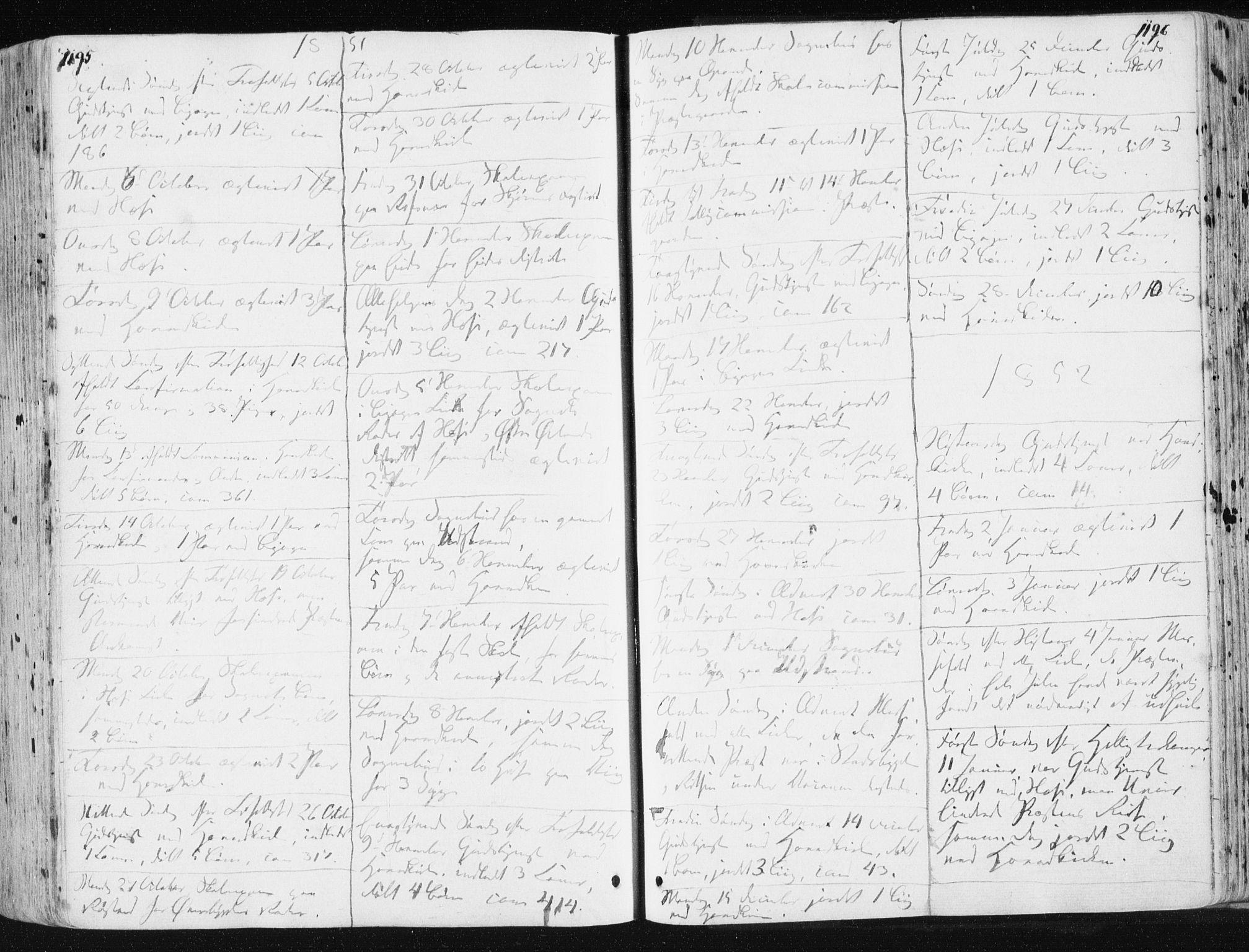 SAT, Ministerialprotokoller, klokkerbøker og fødselsregistre - Sør-Trøndelag, 659/L0736: Ministerialbok nr. 659A06, 1842-1856, s. 1195-1196