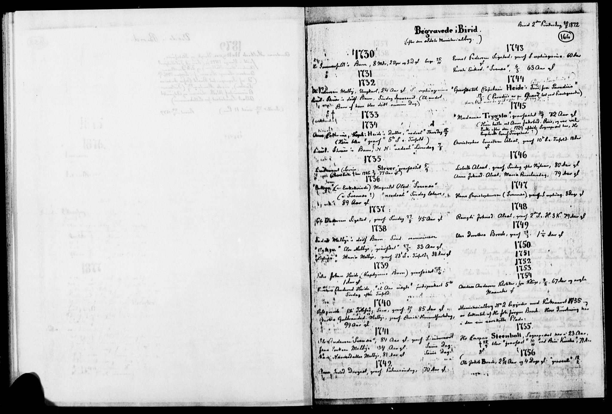 SAH, Biri prestekontor, Ministerialbok, 1730-1879, s. 166