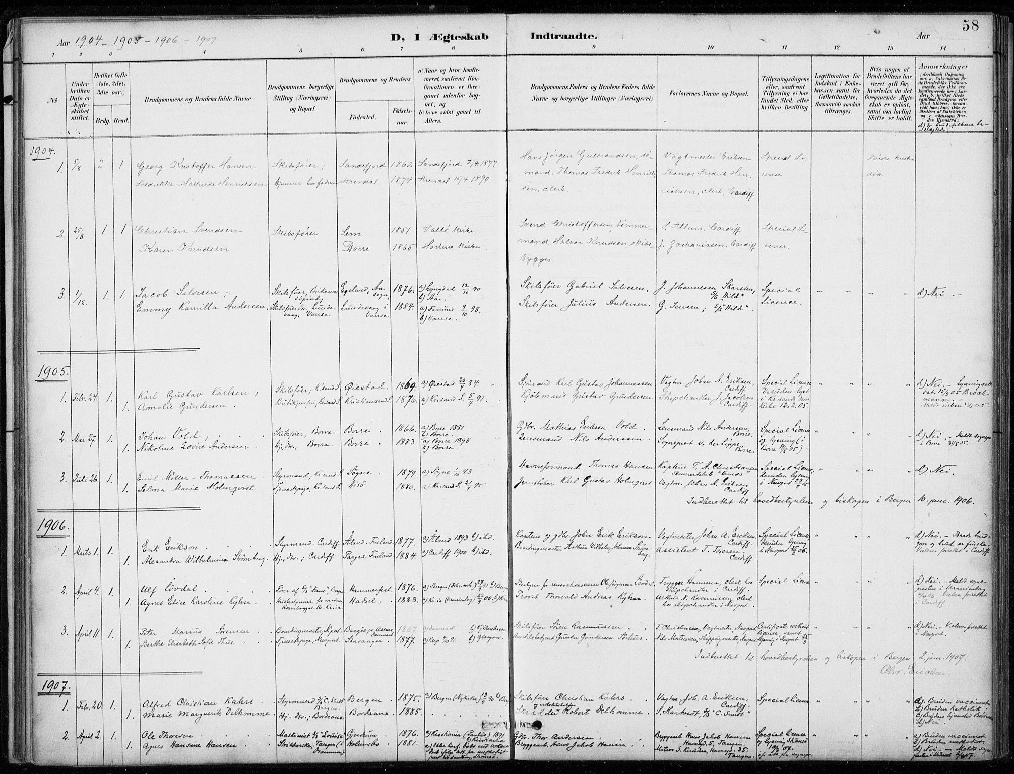 SAB, Den Norske Sjømannsmisjon i utlandet*, Ministerialbok nr. A 2, 1887-1932, s. 58
