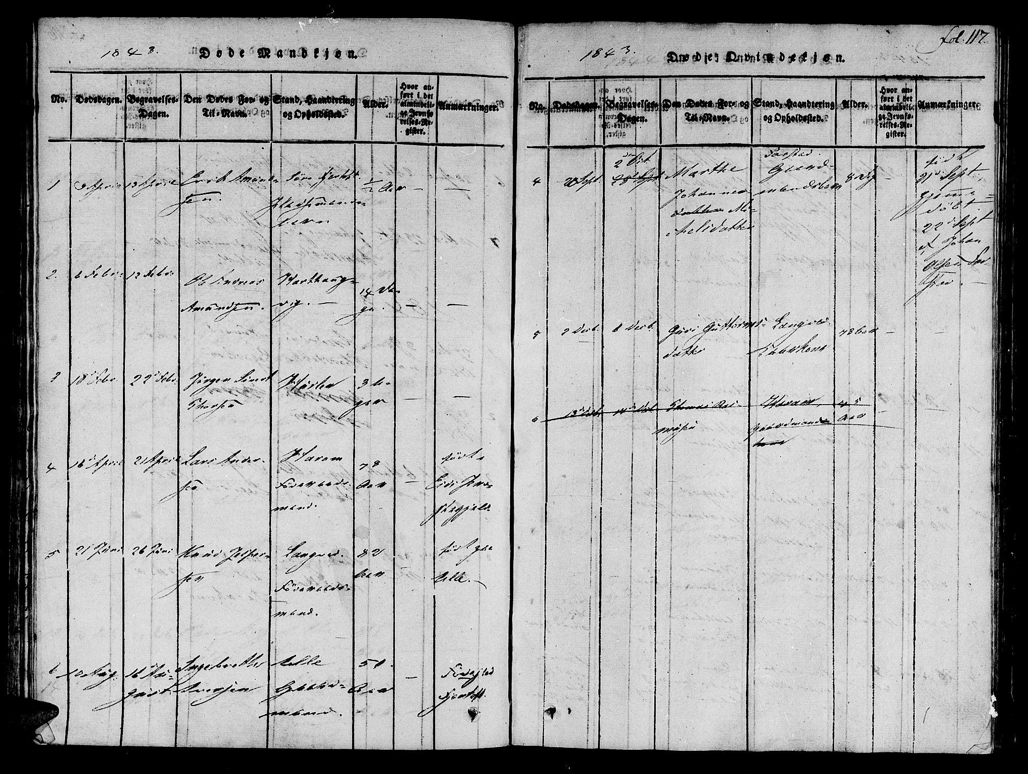 SAT, Ministerialprotokoller, klokkerbøker og fødselsregistre - Møre og Romsdal, 536/L0495: Ministerialbok nr. 536A04, 1818-1847, s. 117