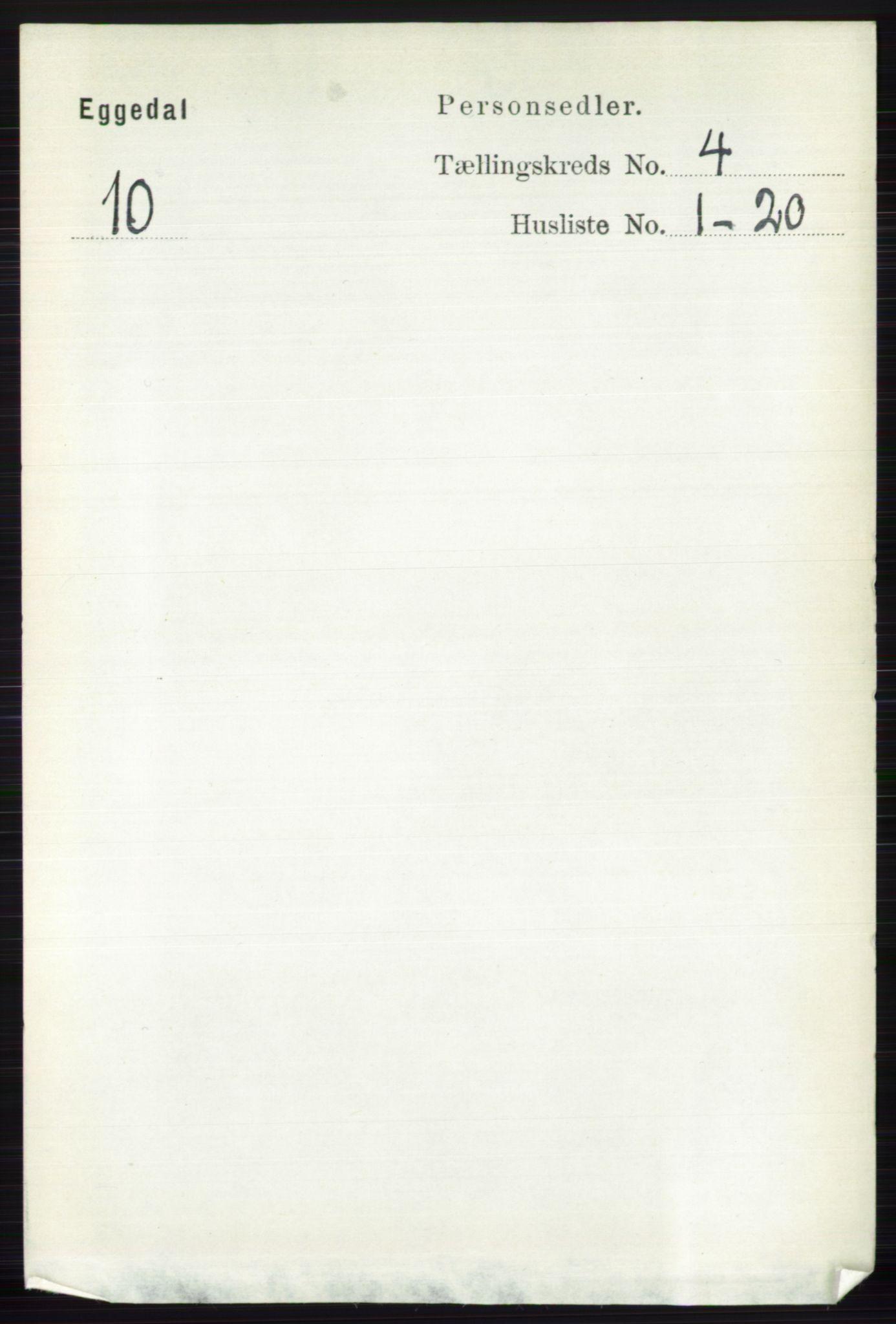 RA, Folketelling 1891 for 0621 Sigdal herred, 1891, s. 4667