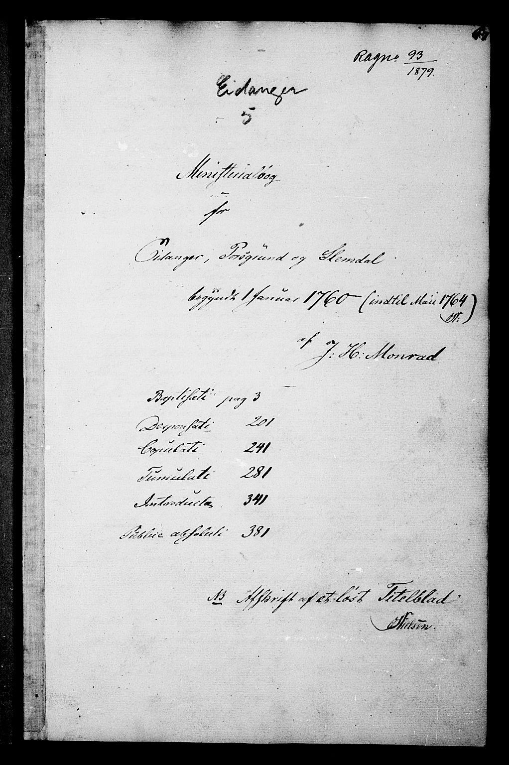 SAKO, Eidanger kirkebøker, F/Fa/L0005: Ministerialbok nr. 5, 1760-1764, s. 67