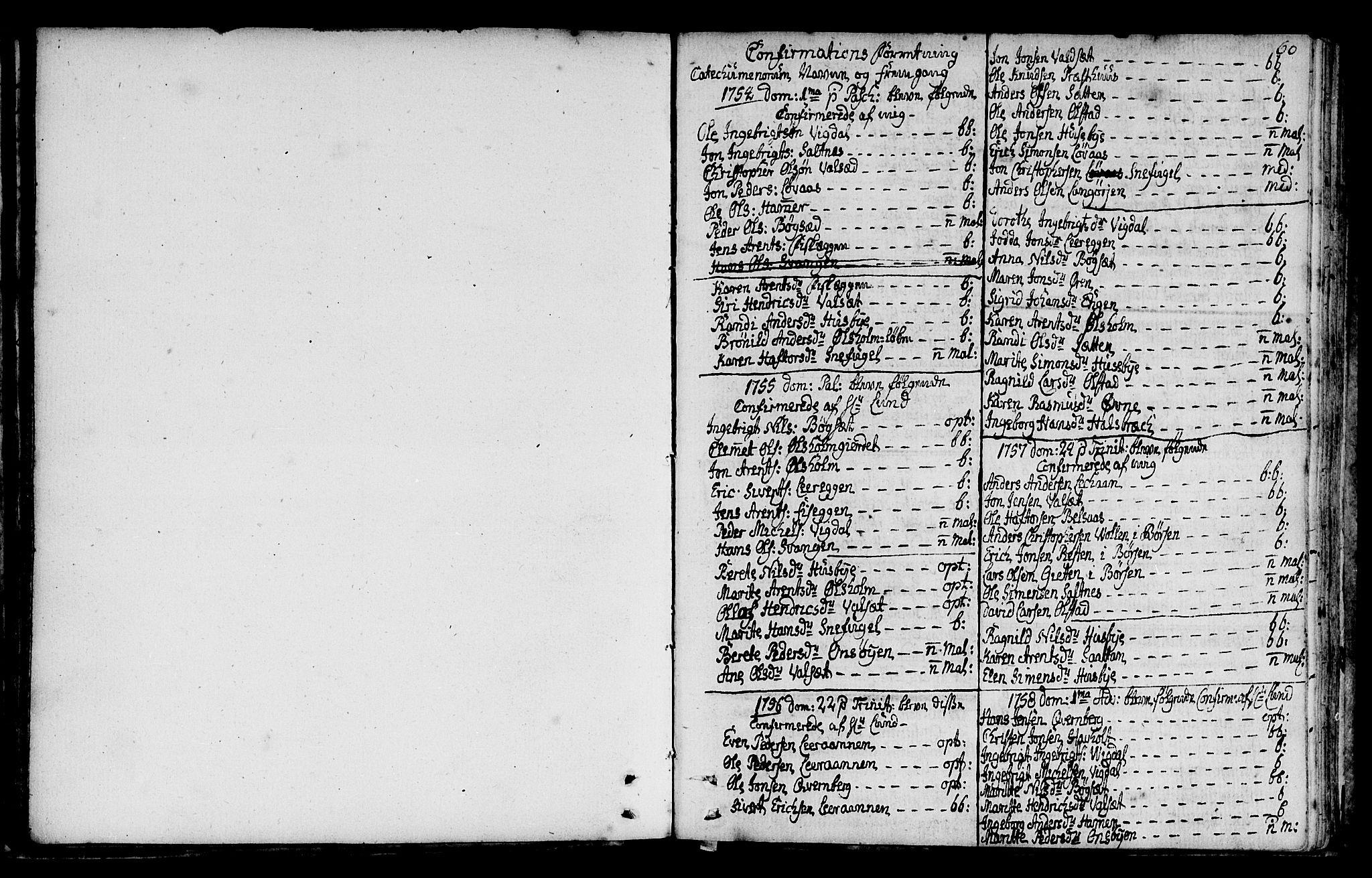 SAT, Ministerialprotokoller, klokkerbøker og fødselsregistre - Sør-Trøndelag, 666/L0784: Ministerialbok nr. 666A02, 1754-1802, s. 60
