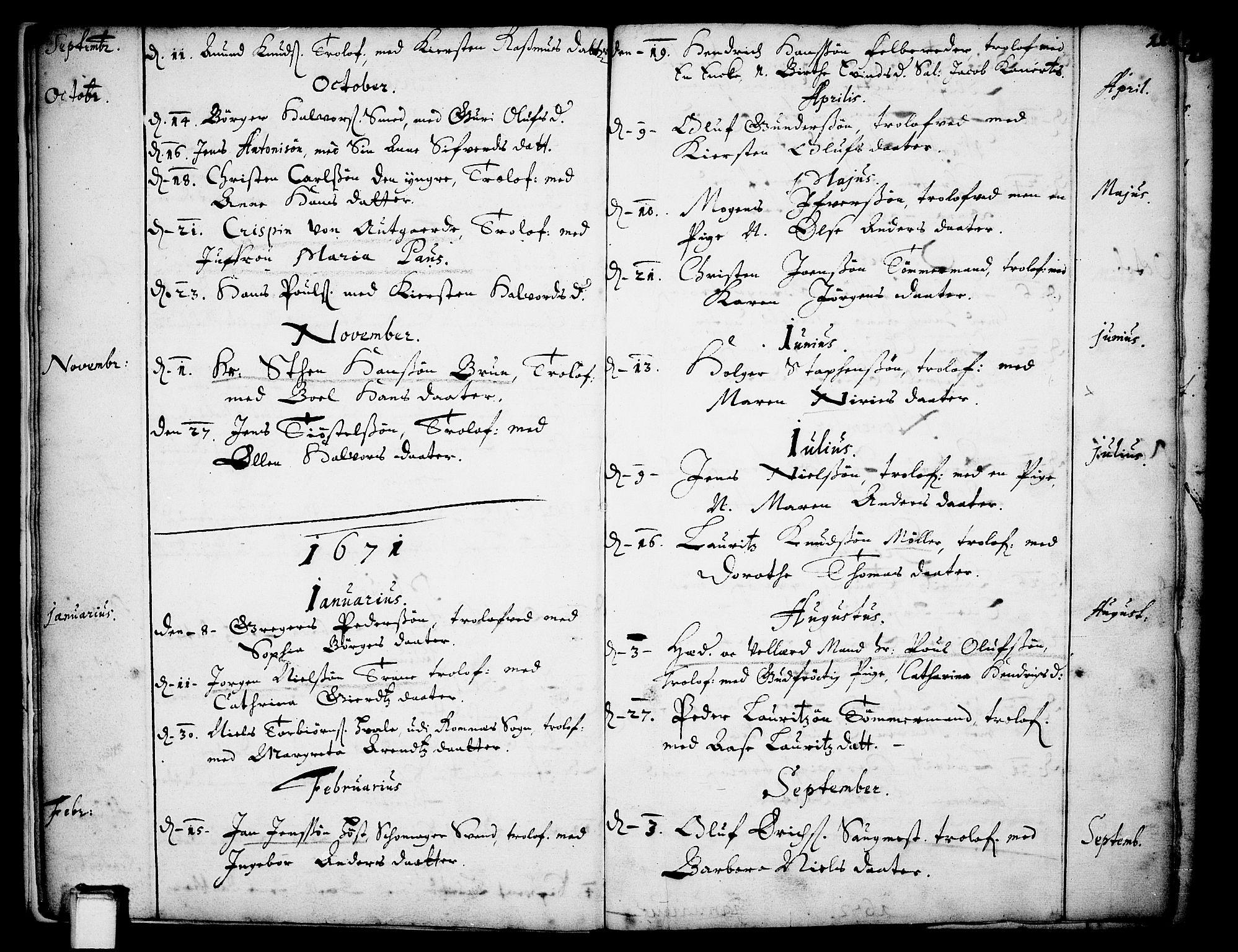 SAKO, Skien kirkebøker, F/Fa/L0001: Ministerialbok nr. 1, 1659-1679, s. 11