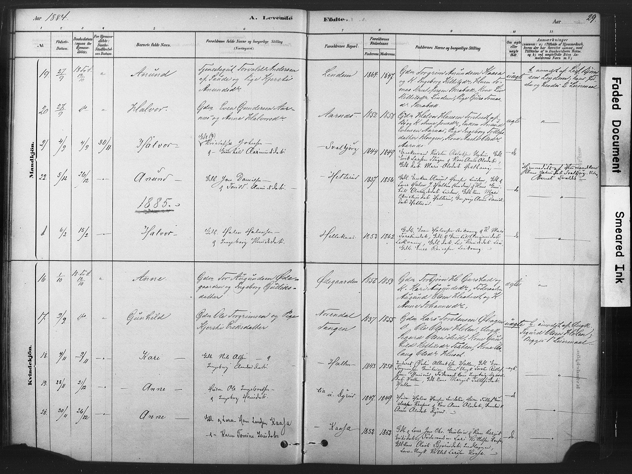 SAKO, Sauherad kirkebøker, F/Fb/L0002: Ministerialbok nr. II 2, 1878-1901, s. 29