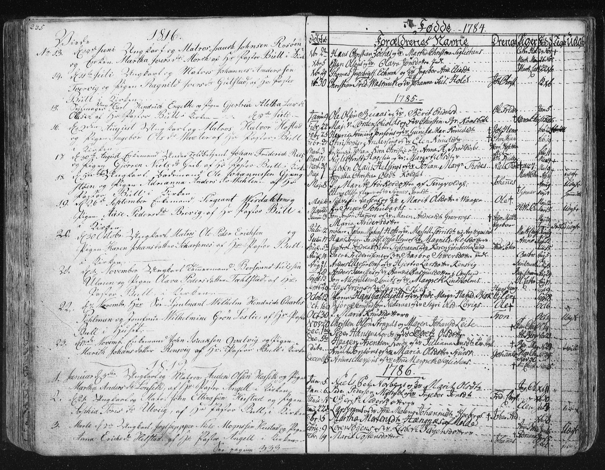 SAT, Ministerialprotokoller, klokkerbøker og fødselsregistre - Møre og Romsdal, 572/L0841: Ministerialbok nr. 572A04, 1784-1819, s. 235
