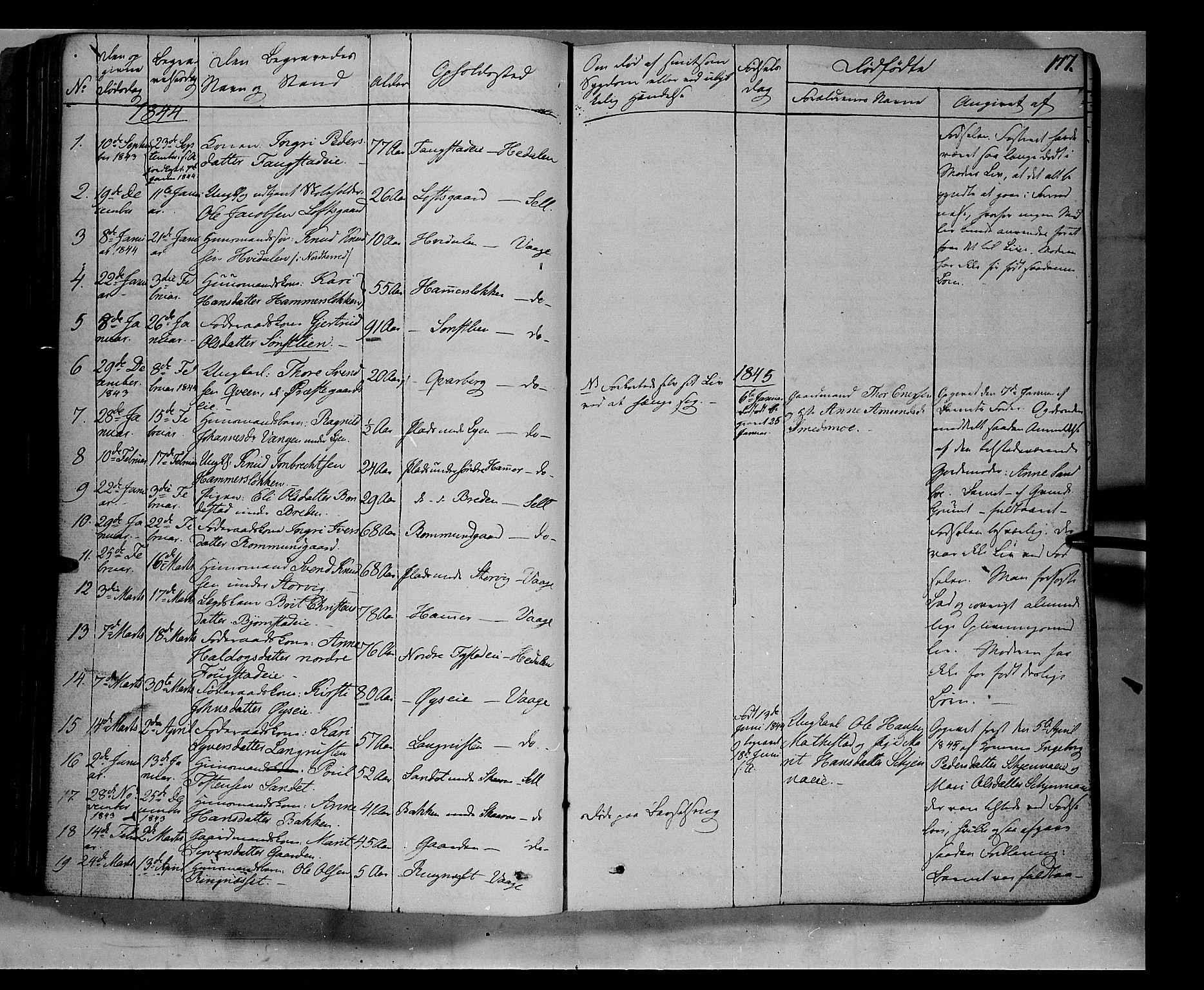 SAH, Vågå prestekontor, Ministerialbok nr. 5 /1, 1842-1856, s. 177