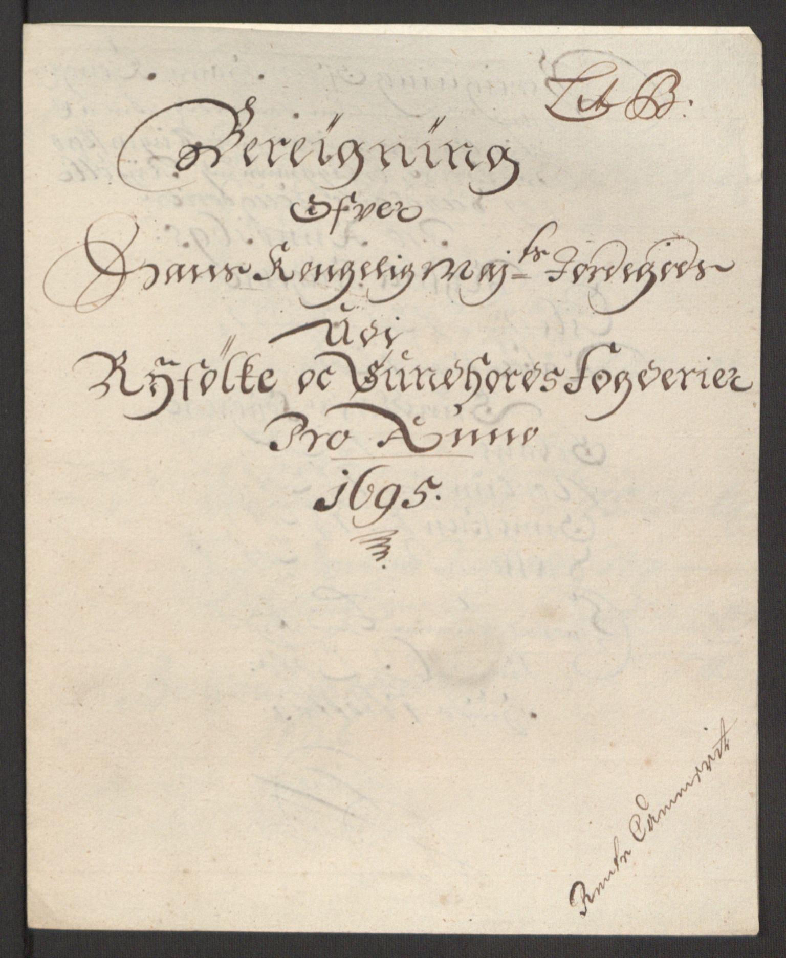 RA, Rentekammeret inntil 1814, Reviderte regnskaper, Fogderegnskap, R48/L2976: Fogderegnskap Sunnhordland og Hardanger, 1695-1696, s. 90