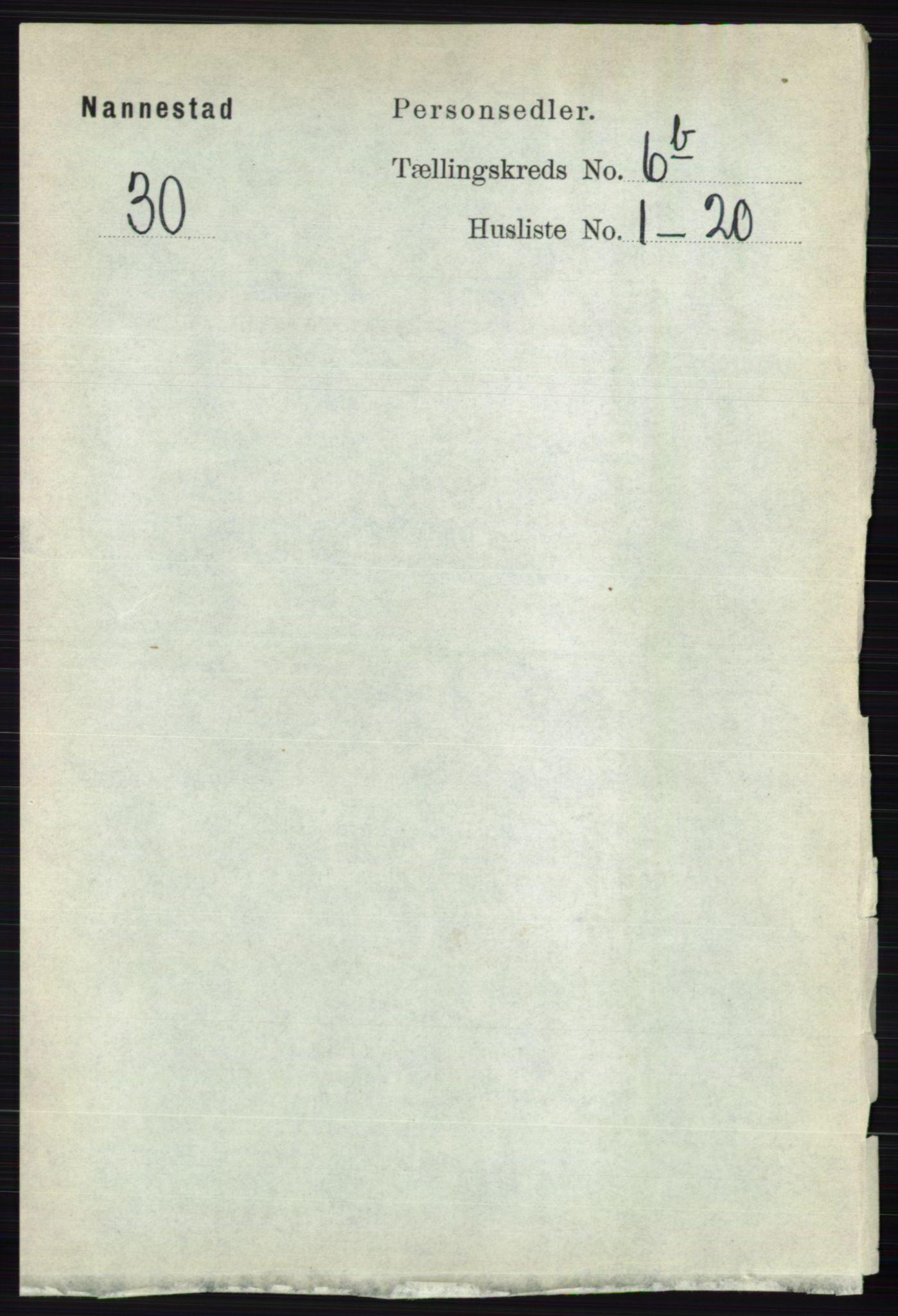RA, Folketelling 1891 for 0238 Nannestad herred, 1891, s. 3417