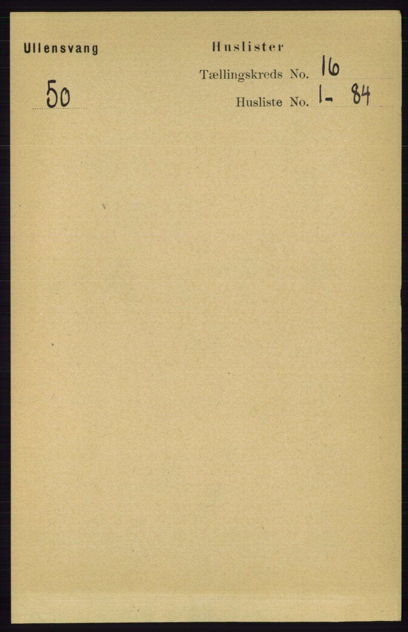 RA, Folketelling 1891 for 1230 Ullensvang herred, 1891, s. 6145