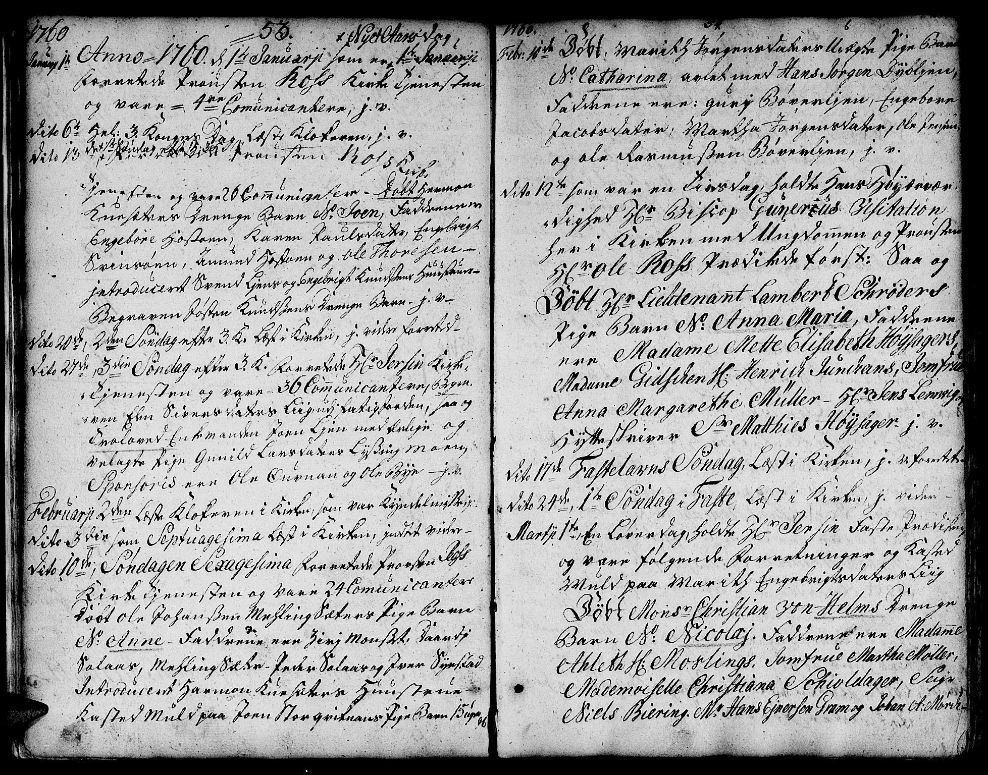 SAT, Ministerialprotokoller, klokkerbøker og fødselsregistre - Sør-Trøndelag, 671/L0840: Ministerialbok nr. 671A02, 1756-1794, s. 53-54