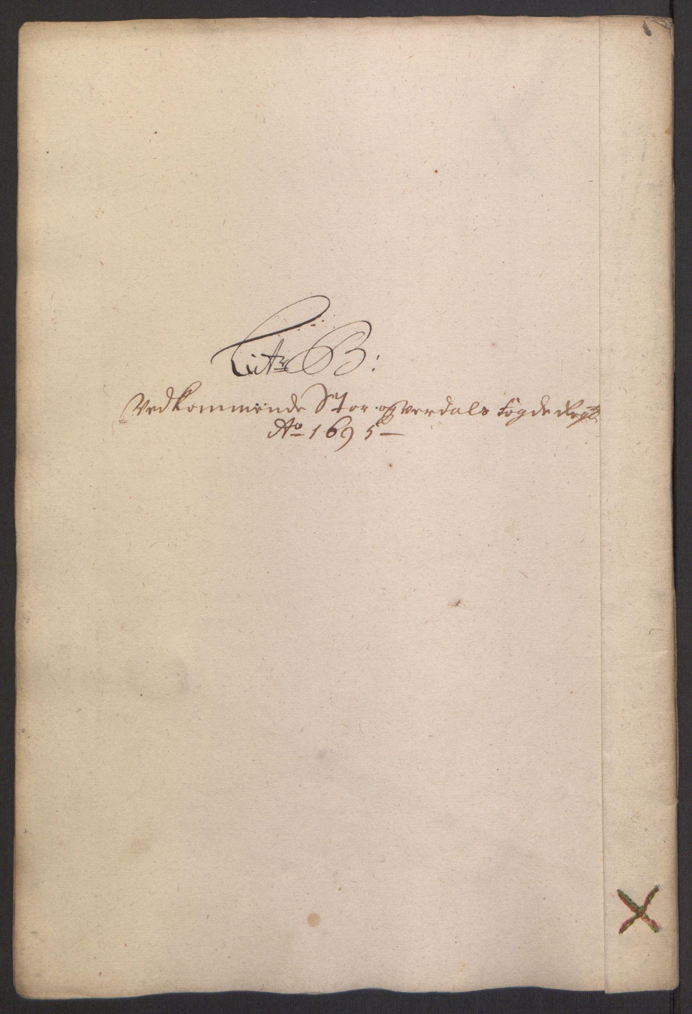 RA, Rentekammeret inntil 1814, Reviderte regnskaper, Fogderegnskap, R62/L4187: Fogderegnskap Stjørdal og Verdal, 1695, s. 55