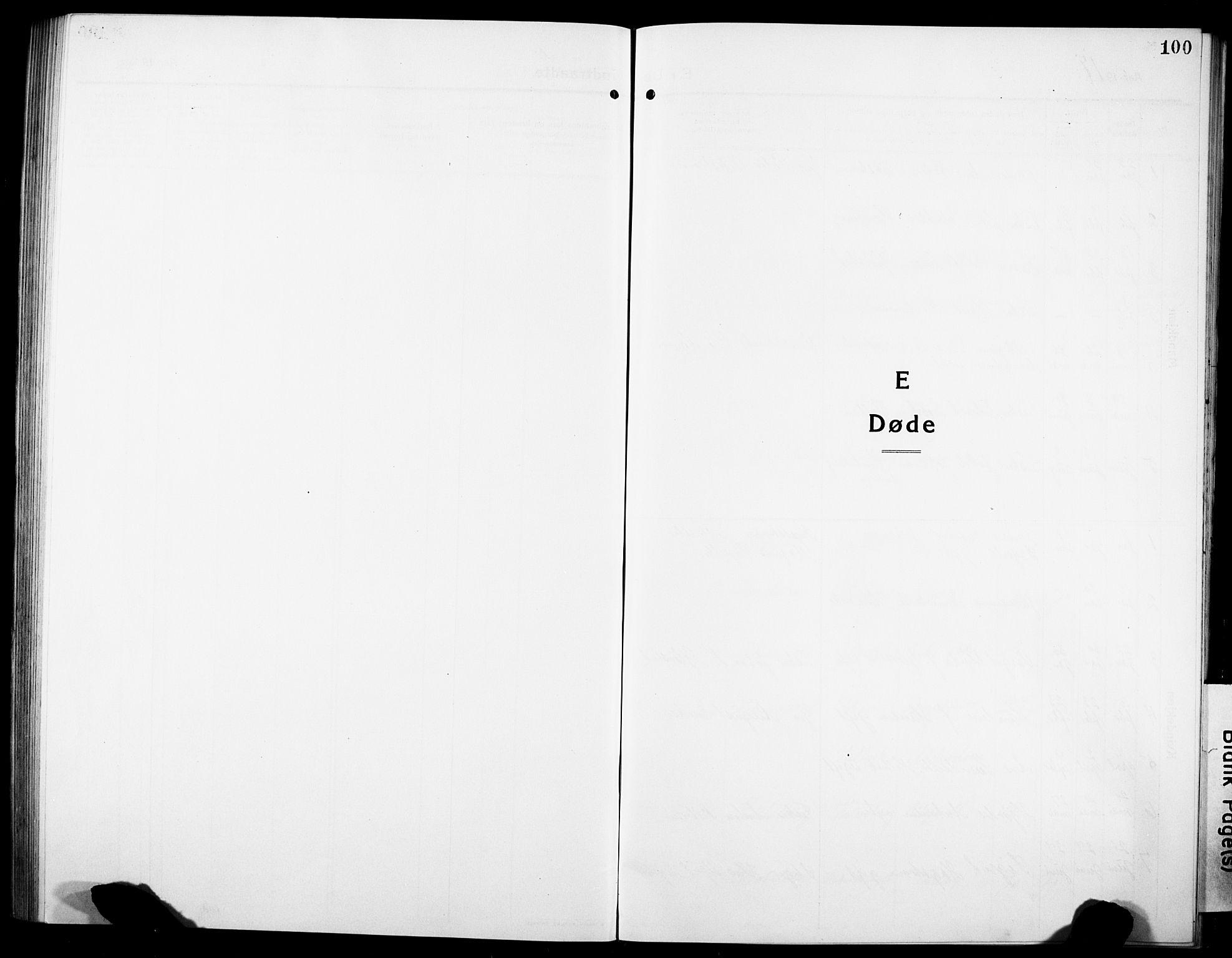 SAT, Ministerialprotokoller, klokkerbøker og fødselsregistre - Sør-Trøndelag, 634/L0543: Klokkerbok nr. 634C05, 1917-1928, s. 100