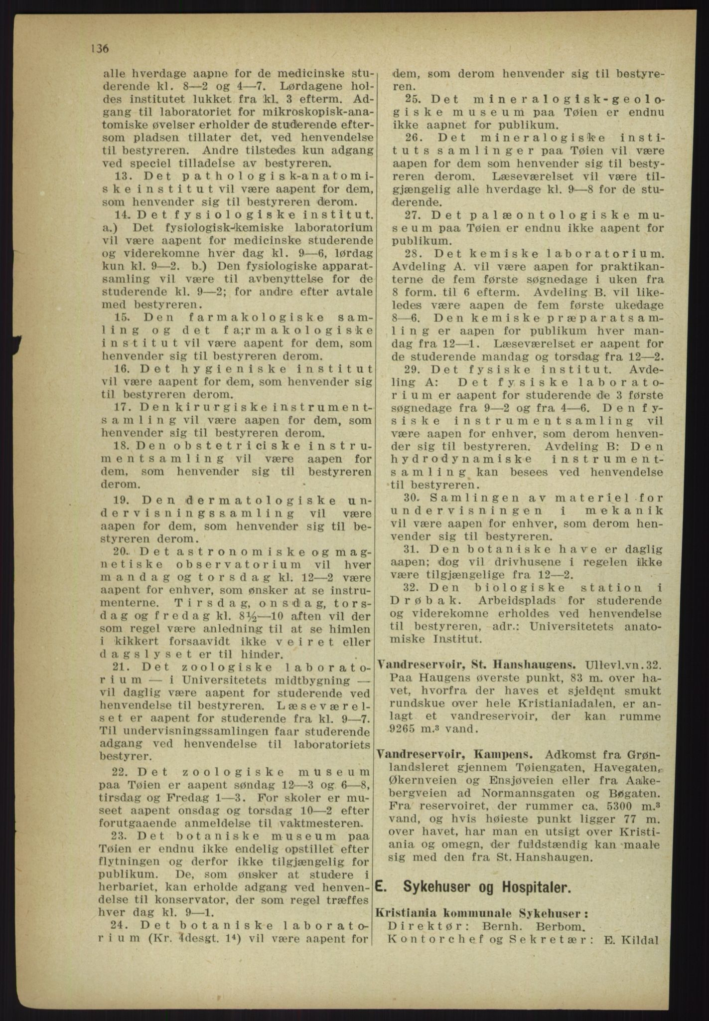 RA, Kristiania adressebok (publikasjon)*, 1918, s. 136