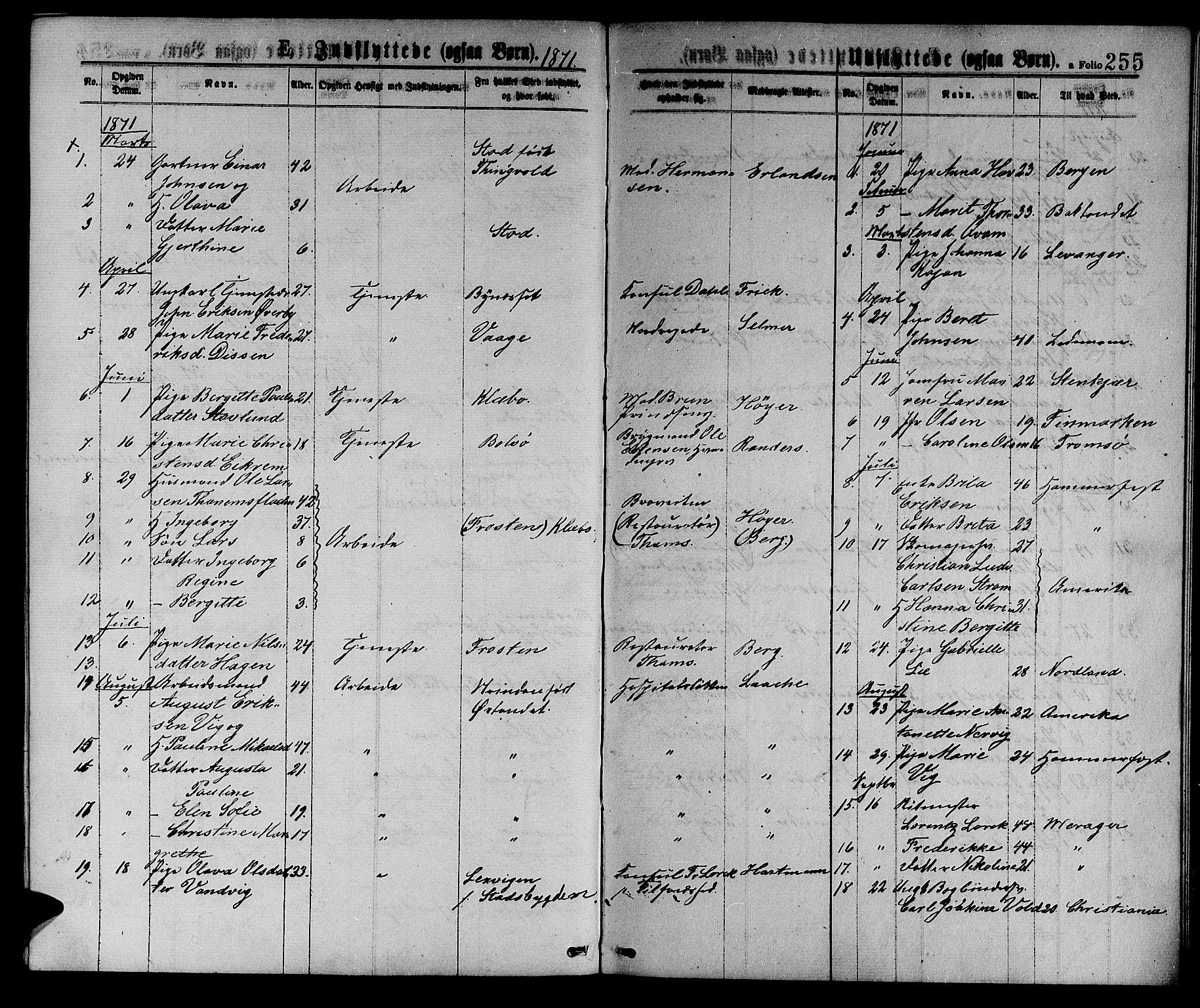 SAT, Ministerialprotokoller, klokkerbøker og fødselsregistre - Sør-Trøndelag, 601/L0088: Klokkerbok nr. 601C06, 1870-1878, s. 255