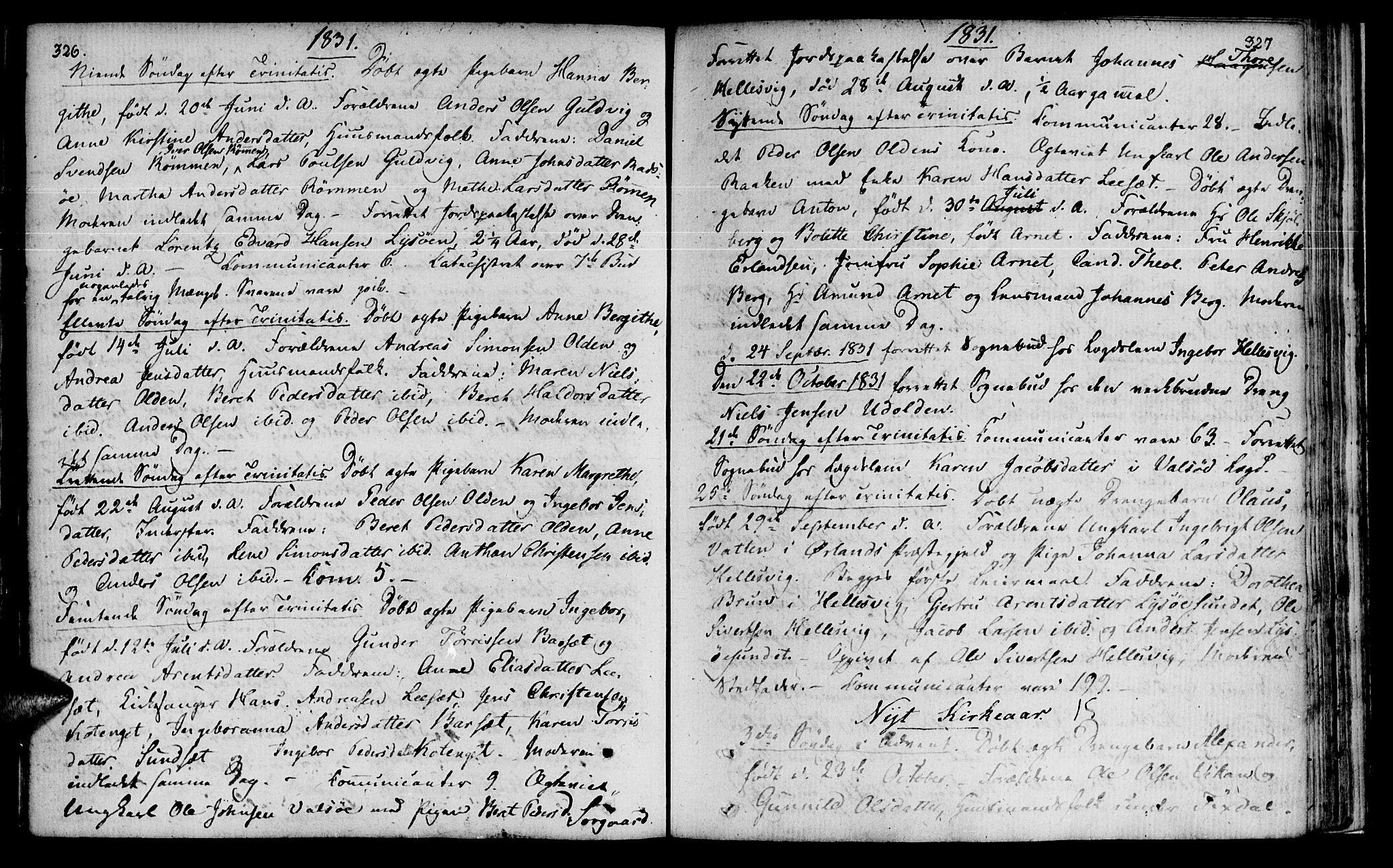 SAT, Ministerialprotokoller, klokkerbøker og fødselsregistre - Sør-Trøndelag, 655/L0674: Ministerialbok nr. 655A03, 1802-1826, s. 326-327