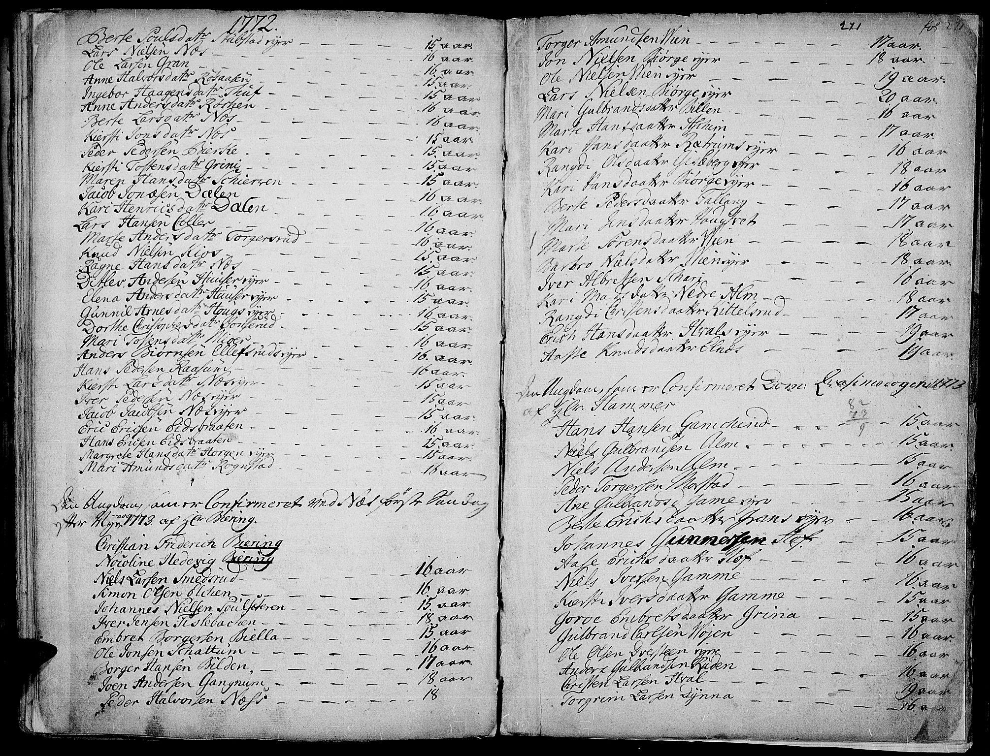 SAH, Gran prestekontor, Ministerialbok nr. 4, 1759-1775, s. 271