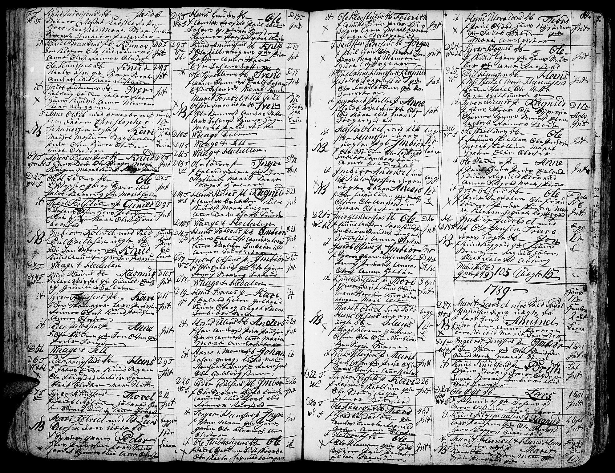 SAH, Vågå prestekontor, Ministerialbok nr. 1, 1739-1810, s. 88