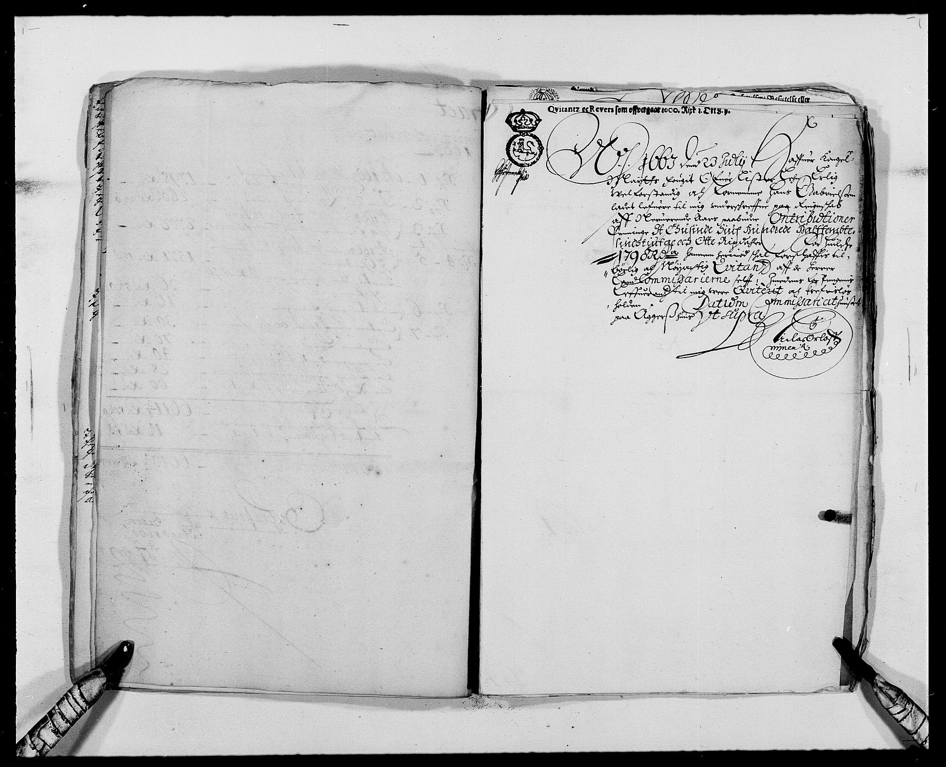 RA, Rentekammeret inntil 1814, Reviderte regnskaper, Fogderegnskap, R41/L2523: Fogderegnskap Lista, 1663-1664, s. 192
