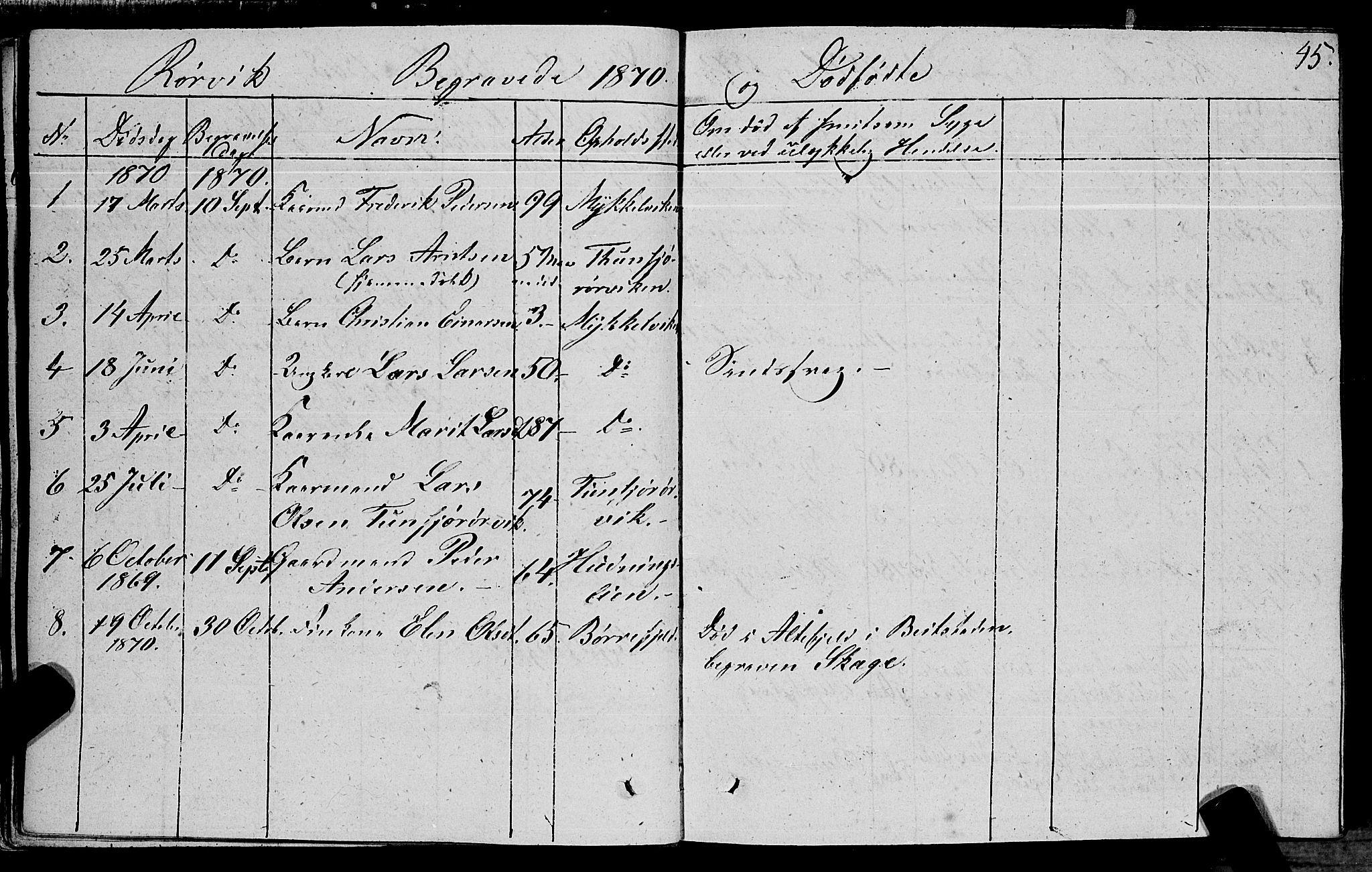 SAT, Ministerialprotokoller, klokkerbøker og fødselsregistre - Nord-Trøndelag, 762/L0538: Ministerialbok nr. 762A02 /1, 1833-1879, s. 45