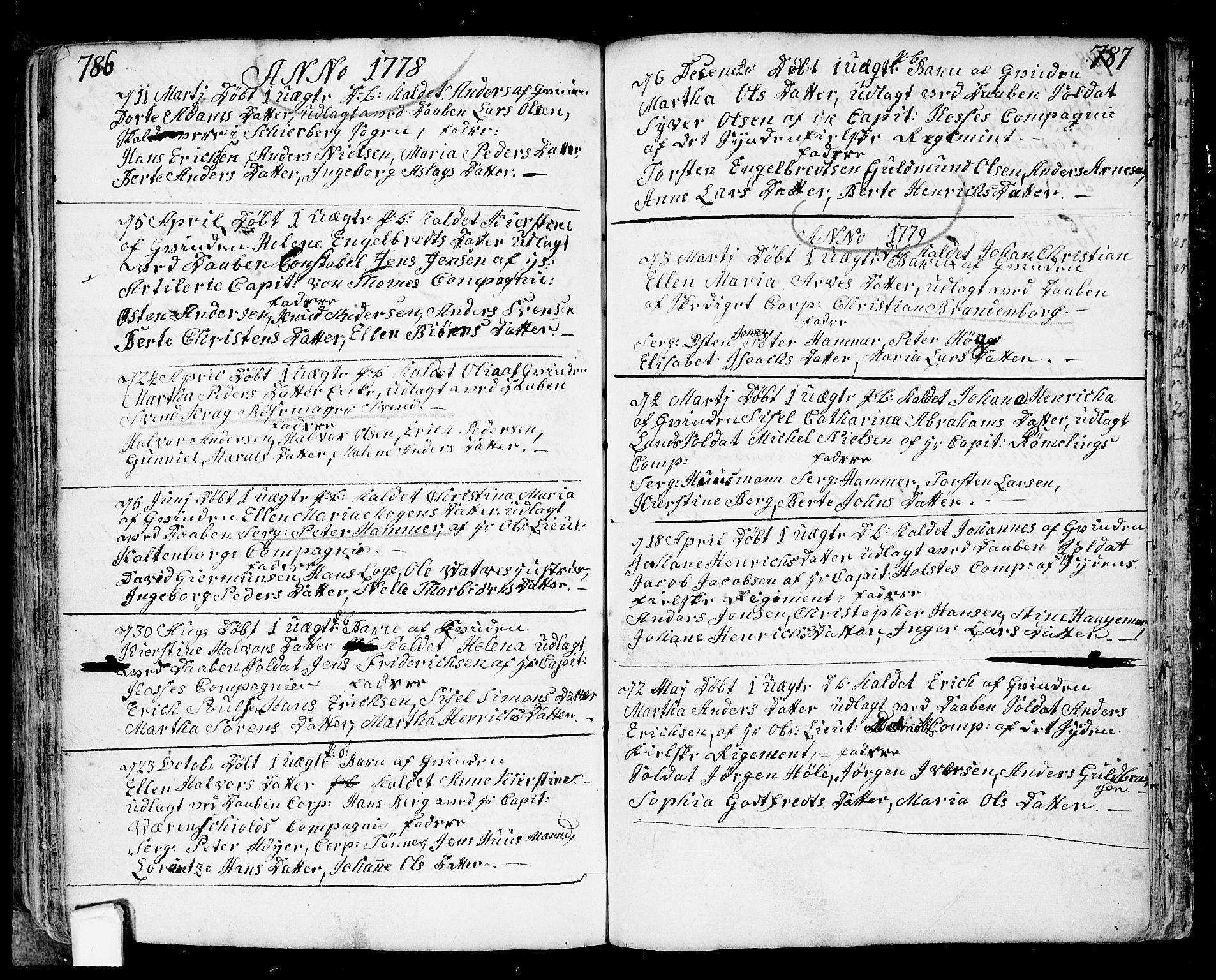 SAO, Fredrikstad prestekontor Kirkebøker, F/Fa/L0002: Ministerialbok nr. 2, 1750-1804, s. 786-787