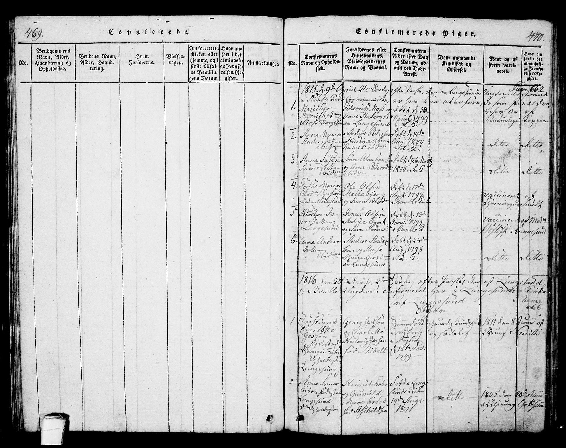 SAKO, Langesund kirkebøker, G/Ga/L0003: Klokkerbok nr. 3, 1815-1858, s. 469-470