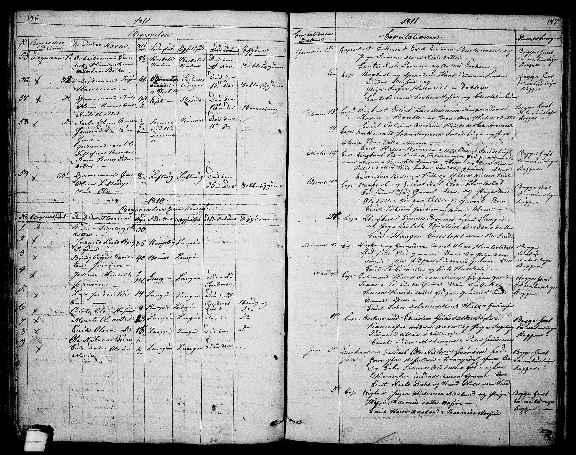 SAKO, Sannidal kirkebøker, F/Fa/L0003: Ministerialbok nr. 3, 1803-1813, s. 146-147