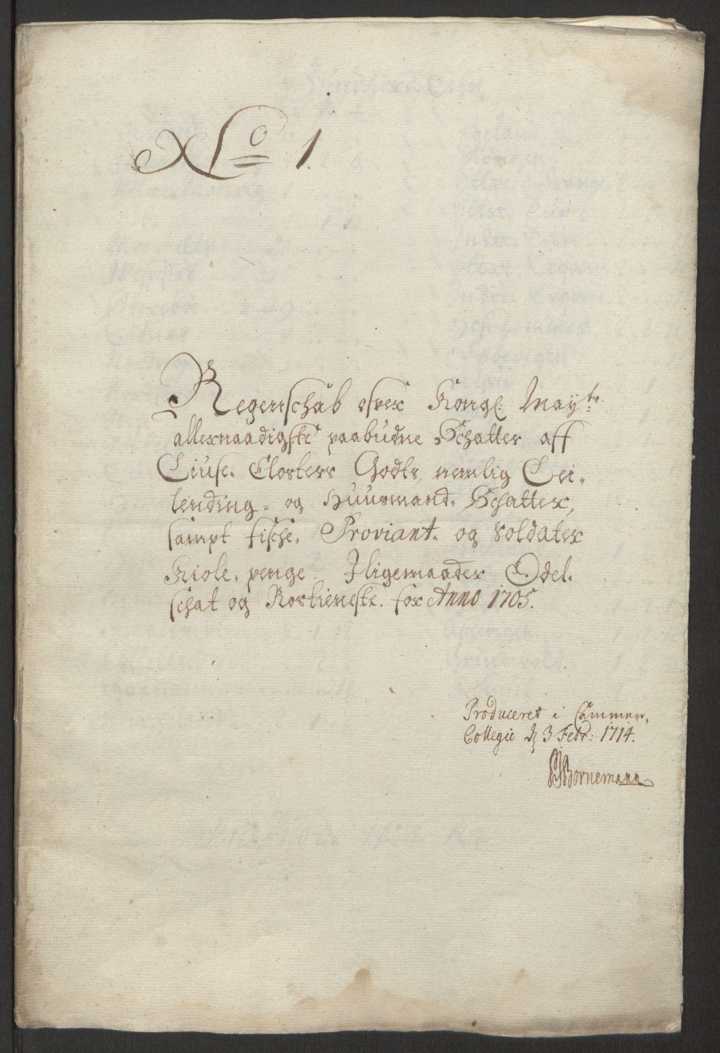 RA, Rentekammeret inntil 1814, Reviderte regnskaper, Fogderegnskap, R50/L3159: Fogderegnskap Lyse kloster, 1691-1709, s. 220