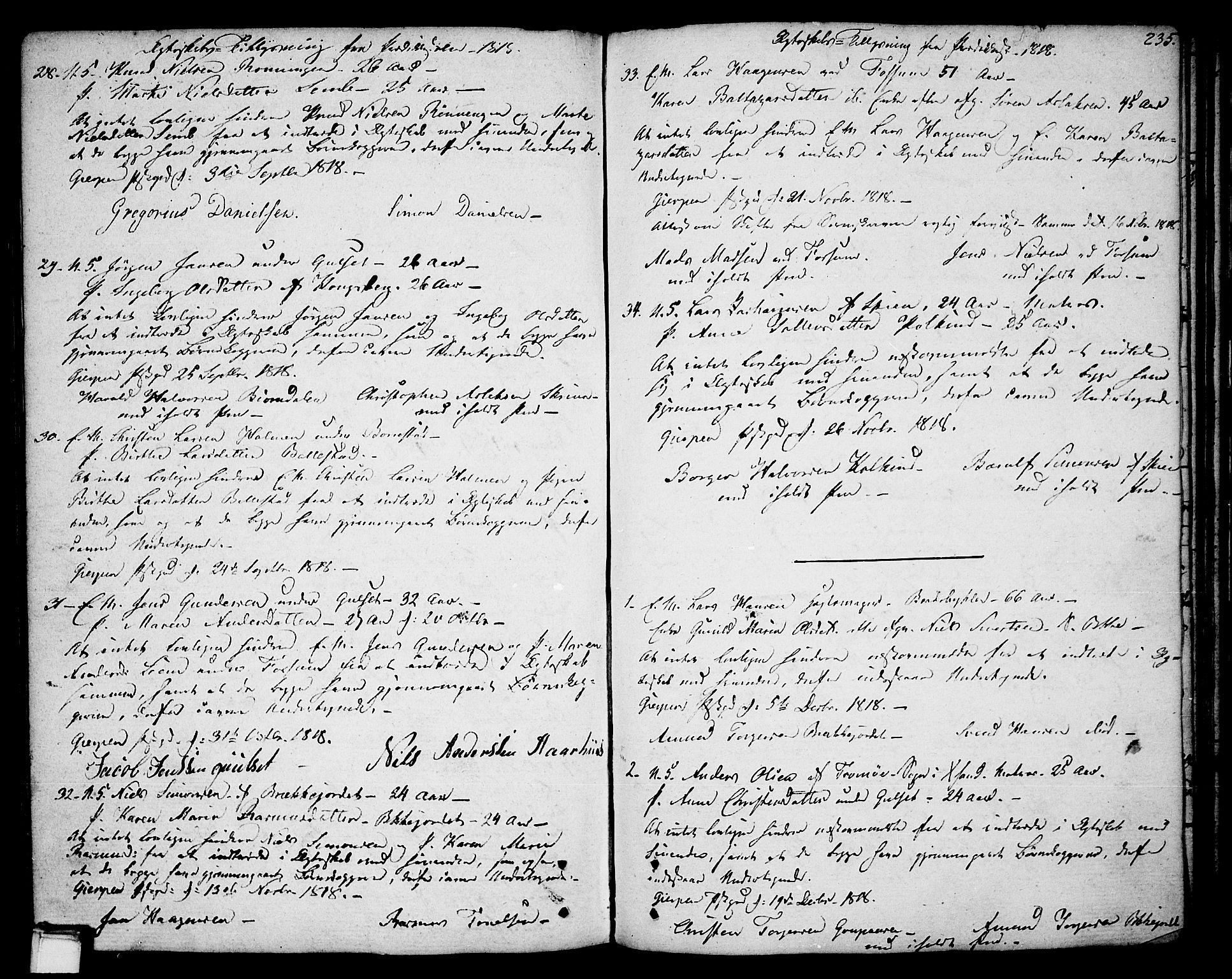 SAKO, Gjerpen kirkebøker, F/Fa/L0003: Ministerialbok nr. 3, 1796-1814, s. 235