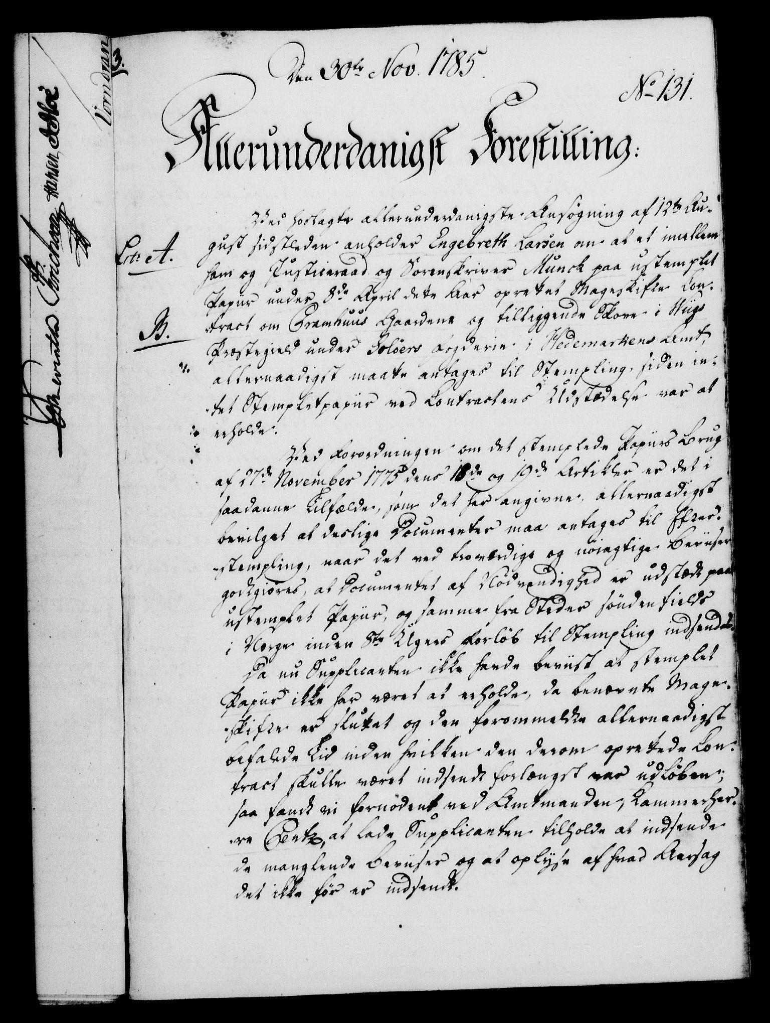 RA, Rentekammeret, Kammerkanselliet, G/Gf/Gfa/L0067: Norsk relasjons- og resolusjonsprotokoll (merket RK 52.67), 1785, s. 994