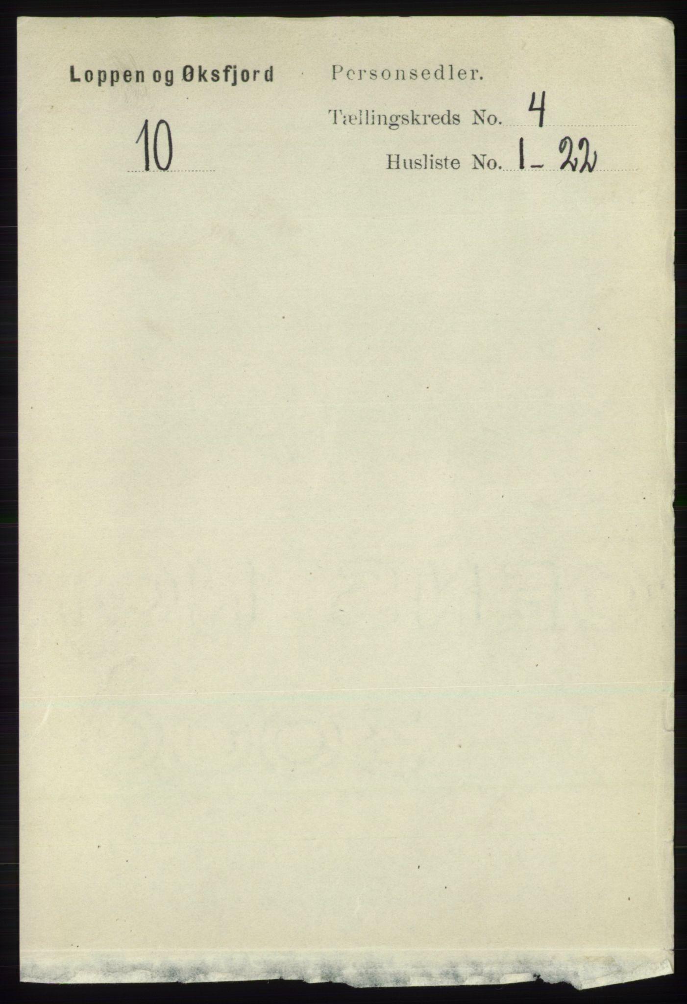 RA, Folketelling 1891 for 2014 Loppa herred, 1891, s. 862