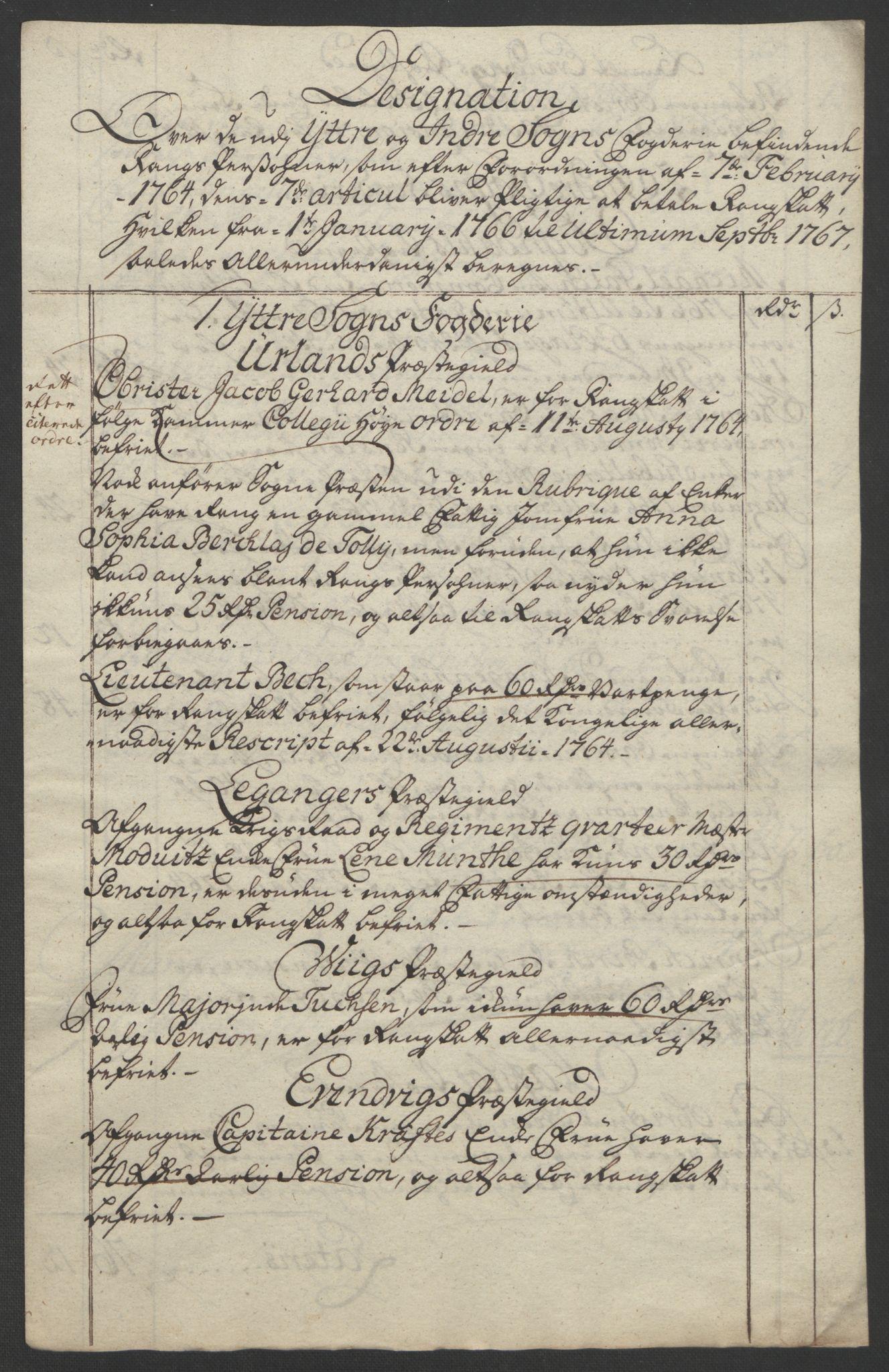 RA, Rentekammeret inntil 1814, Realistisk ordnet avdeling, Ol/L0018: [Gg 10]: Ekstraskatten, 23.09.1762. Sogn, 1762-1772, s. 139