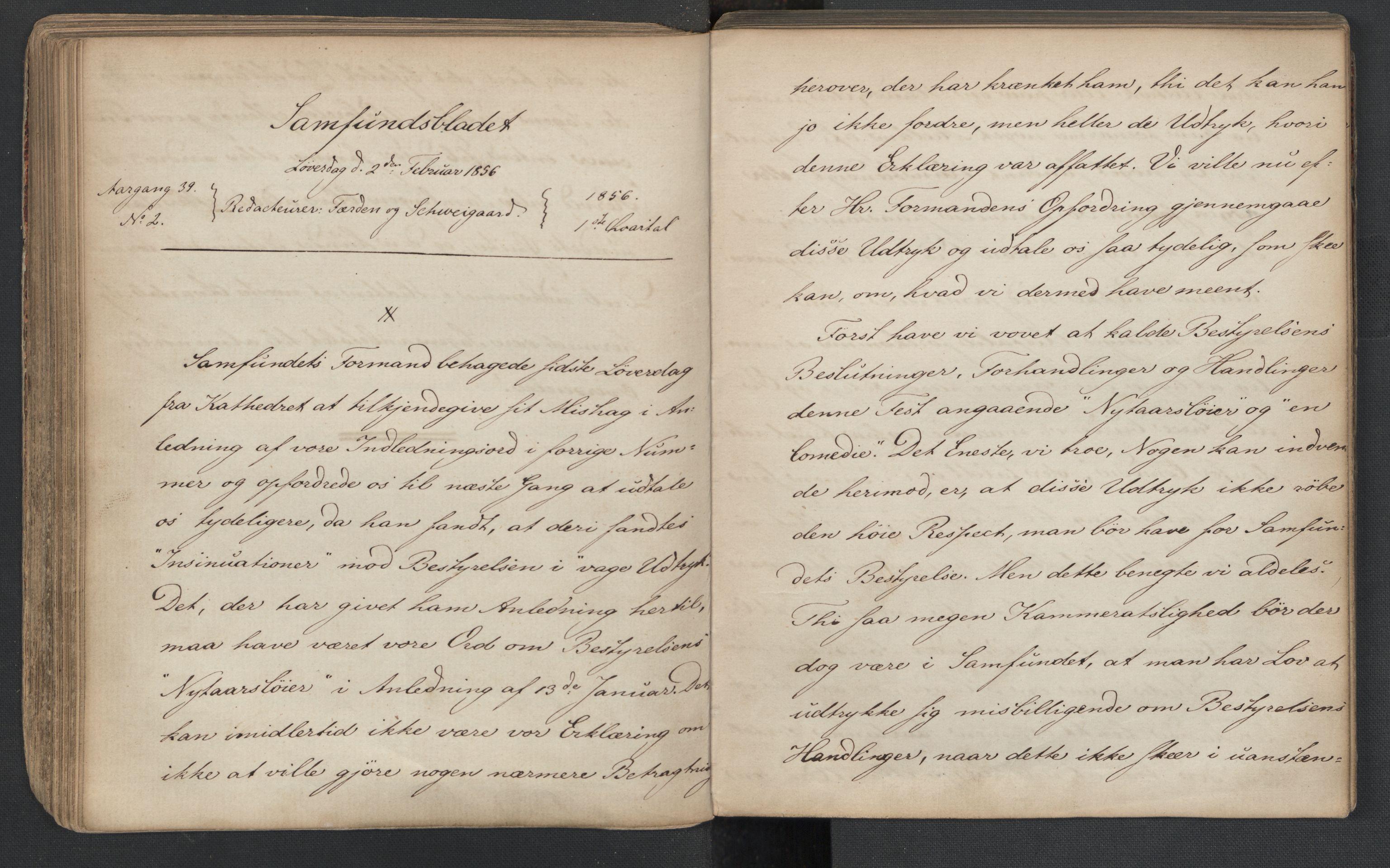 RA, Det Norske Studentersamfund, X/Xa/L0005, 1855-1856, s. 97