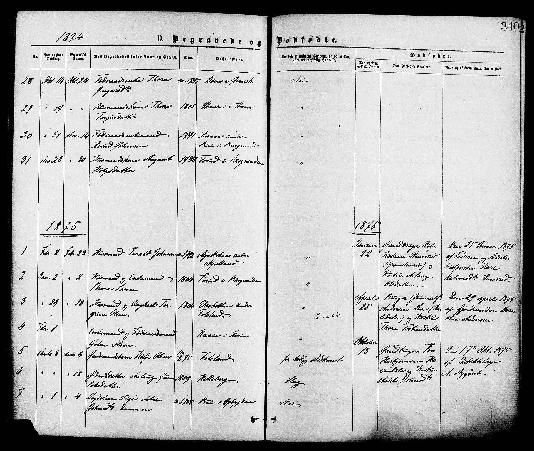 SAKO, Gransherad kirkebøker, F/Fa/L0004: Ministerialbok nr. I 4, 1871-1886, s. 340