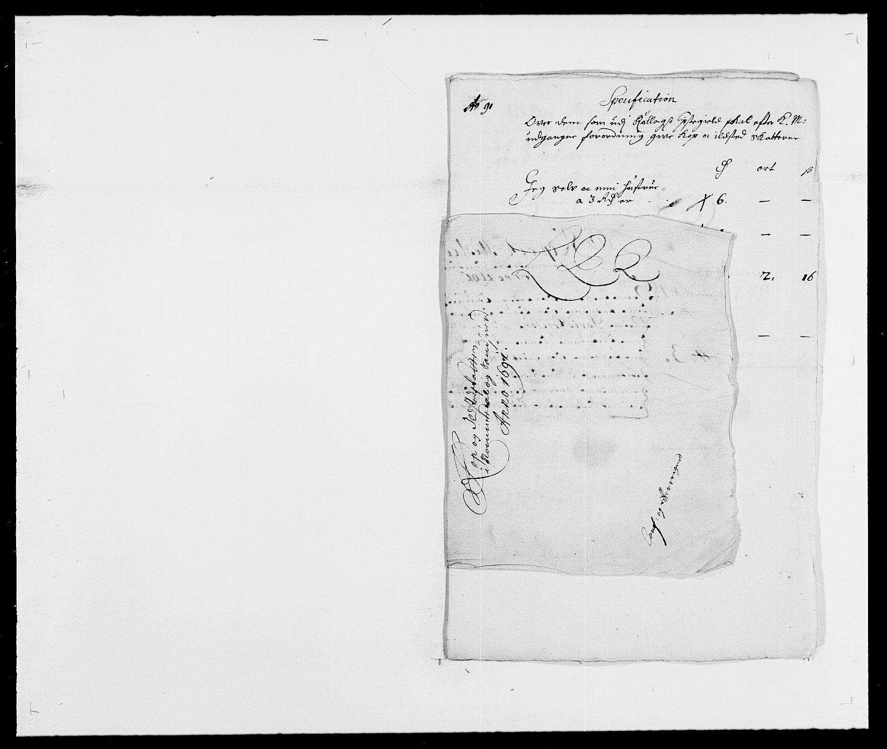 RA, Rentekammeret inntil 1814, Reviderte regnskaper, Fogderegnskap, R24/L1573: Fogderegnskap Numedal og Sandsvær, 1687-1691, s. 525