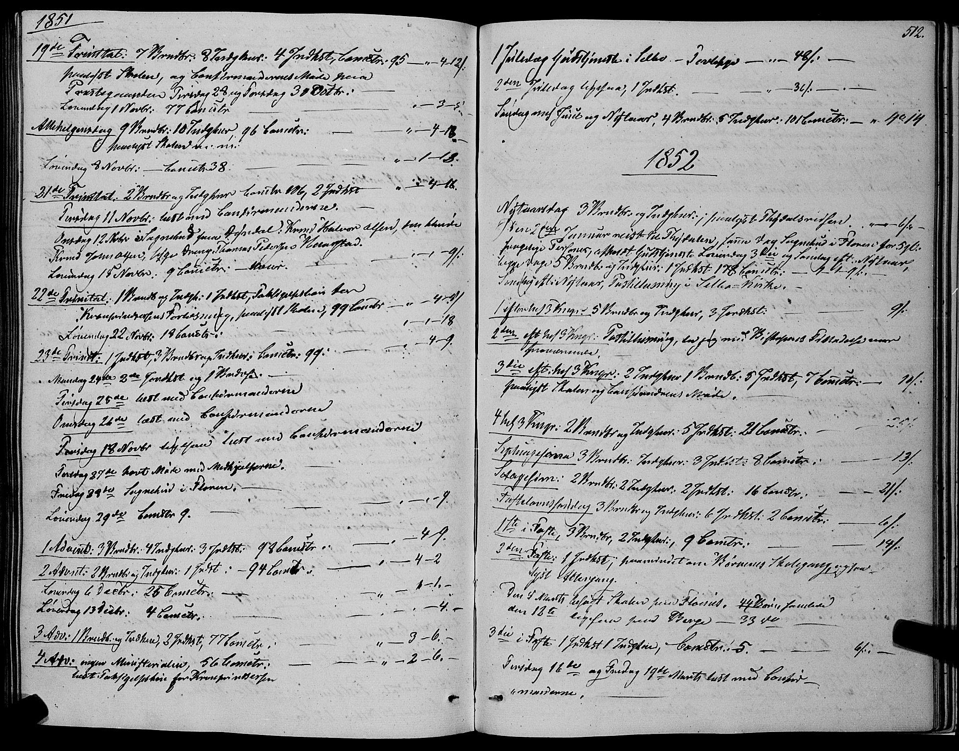SAT, Ministerialprotokoller, klokkerbøker og fødselsregistre - Sør-Trøndelag, 695/L1145: Ministerialbok nr. 695A06 /1, 1843-1859, s. 512