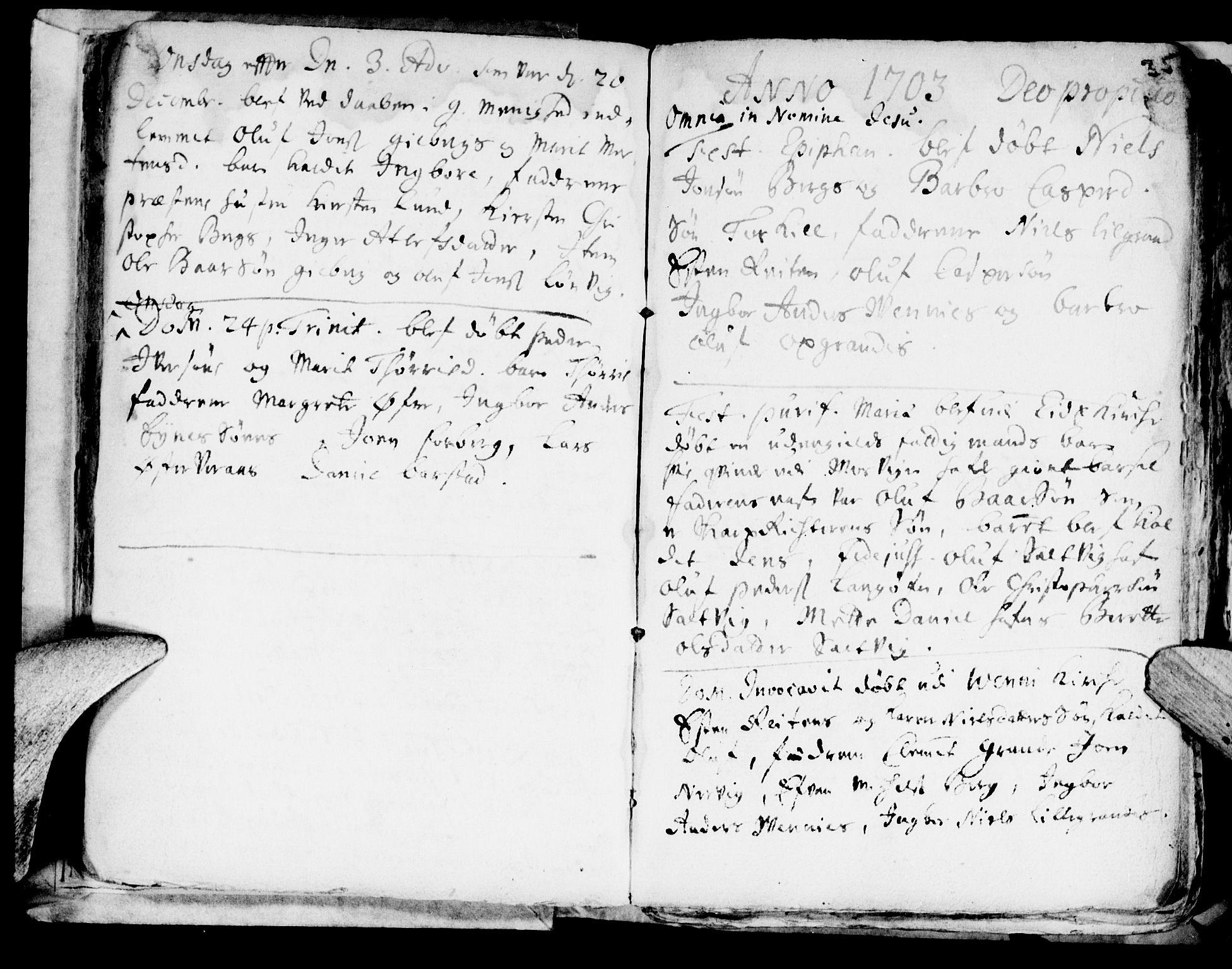 SAT, Ministerialprotokoller, klokkerbøker og fødselsregistre - Nord-Trøndelag, 722/L0214: Ministerialbok nr. 722A01, 1692-1718, s. 35