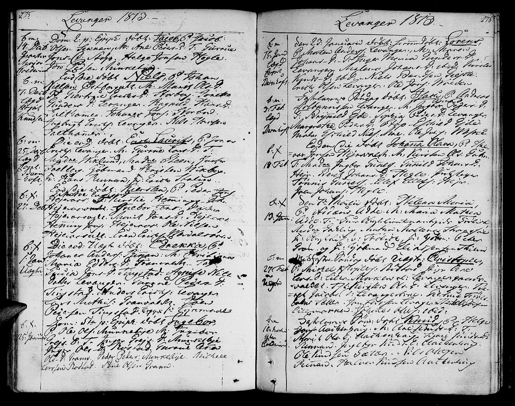 SAT, Ministerialprotokoller, klokkerbøker og fødselsregistre - Nord-Trøndelag, 717/L0145: Ministerialbok nr. 717A03 /3, 1810-1815, s. 275-276