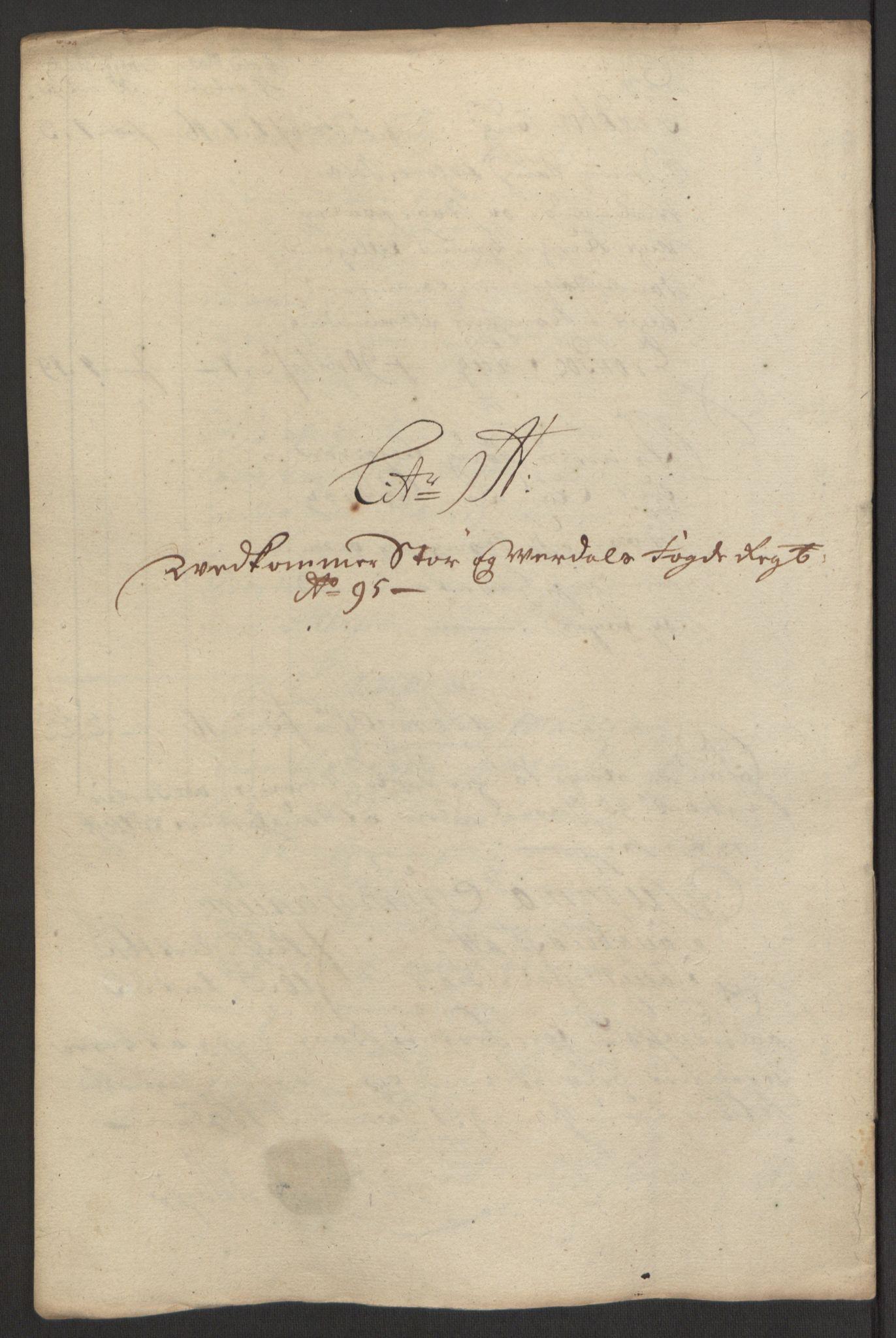 RA, Rentekammeret inntil 1814, Reviderte regnskaper, Fogderegnskap, R62/L4187: Fogderegnskap Stjørdal og Verdal, 1695, s. 124