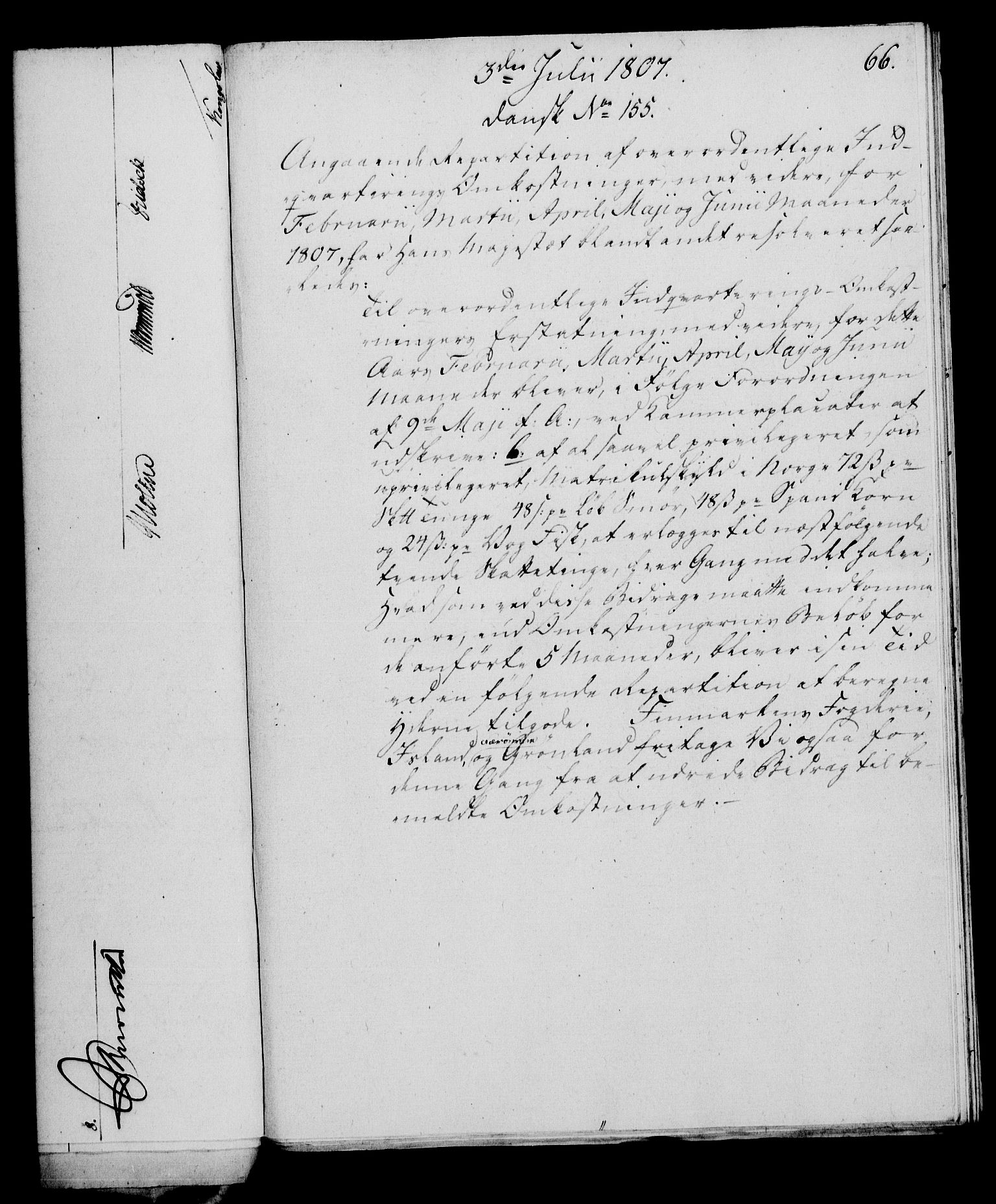 RA, Rentekammeret, Kammerkanselliet, G/Gf/Gfa/L0089: Norsk relasjons- og resolusjonsprotokoll (merket RK 52.89), 1807, s. 416