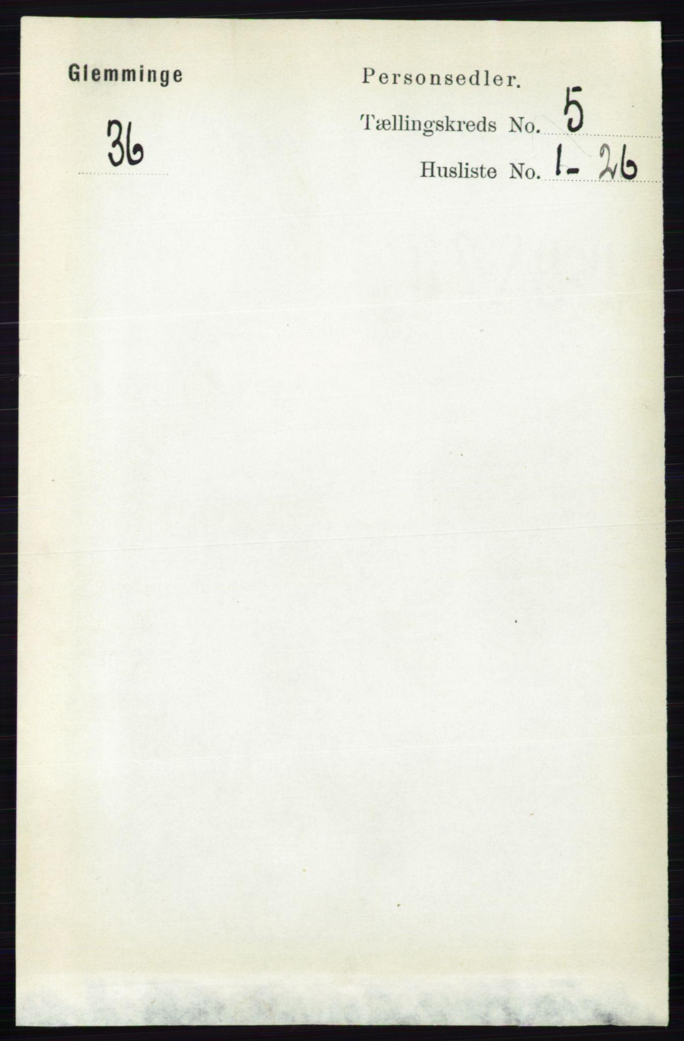 RA, Folketelling 1891 for 0132 Glemmen herred, 1891, s. 6047