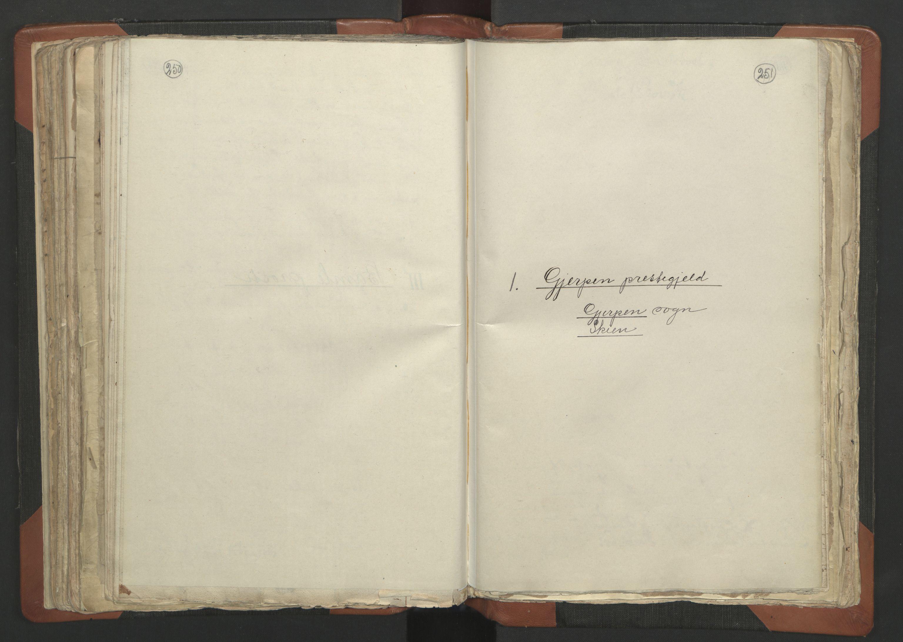 RA, Sogneprestenes manntall 1664-1666, nr. 12: Øvre Telemark prosti, Nedre Telemark prosti og Bamble prosti, 1664-1666, s. 250-251