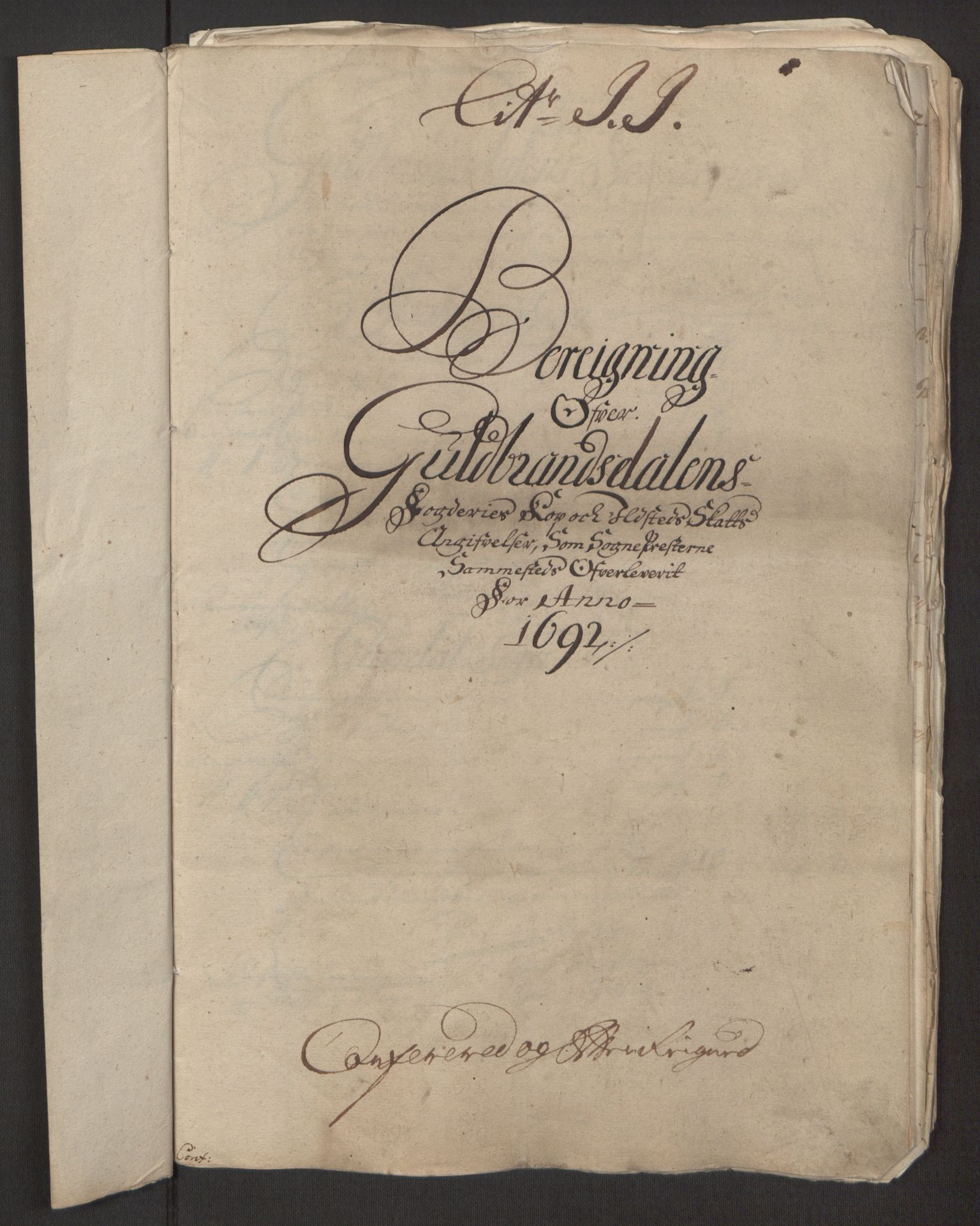 RA, Rentekammeret inntil 1814, Reviderte regnskaper, Fogderegnskap, R17/L1166: Fogderegnskap Gudbrandsdal, 1690-1692, s. 131