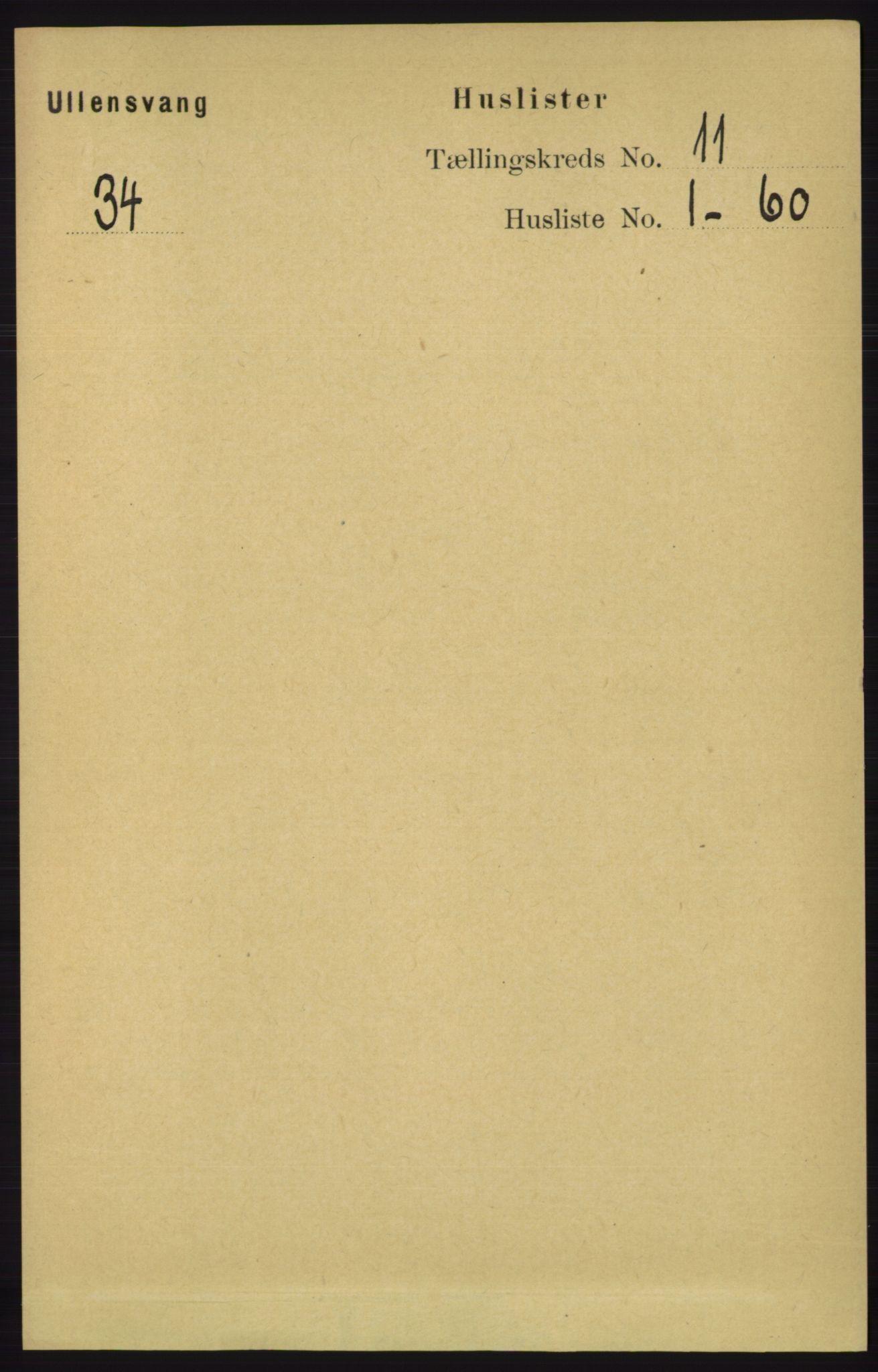 RA, Folketelling 1891 for 1230 Ullensvang herred, 1891, s. 4201