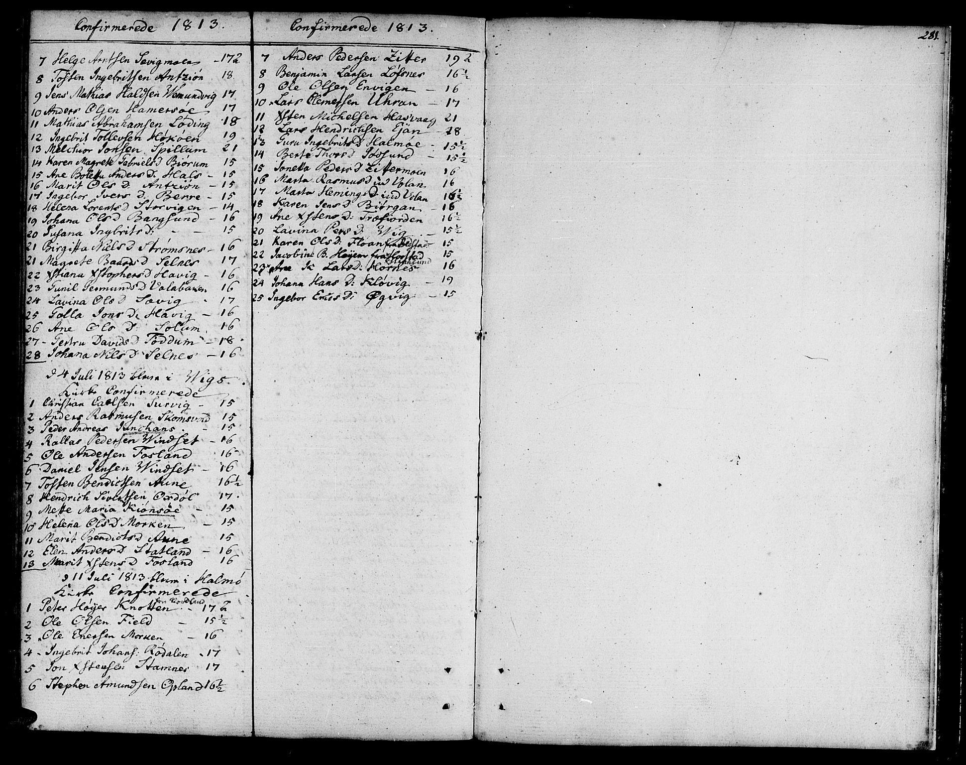 SAT, Ministerialprotokoller, klokkerbøker og fødselsregistre - Nord-Trøndelag, 773/L0608: Ministerialbok nr. 773A02, 1784-1816, s. 281